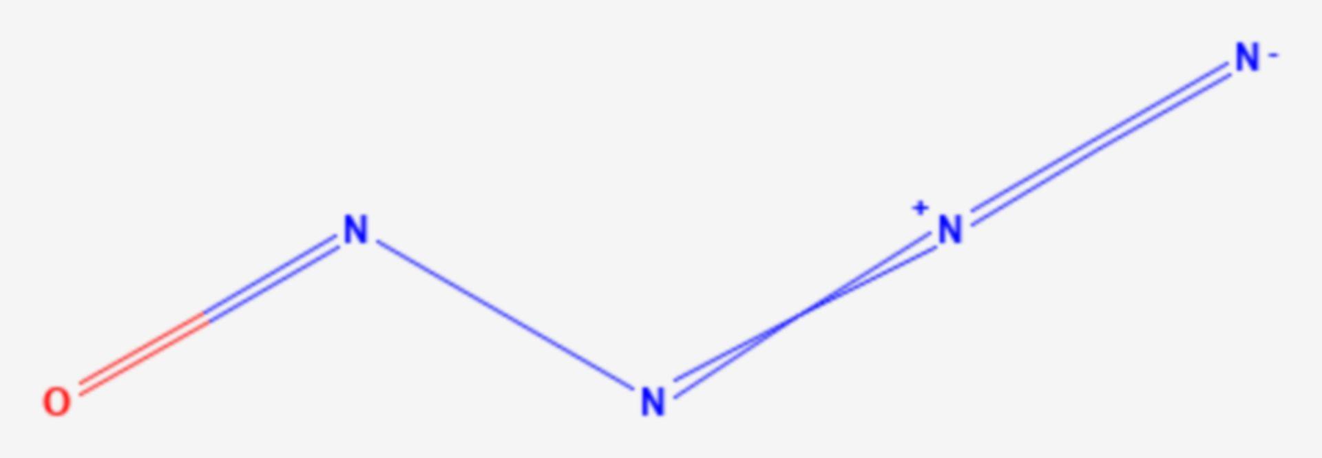 Nitrosylazid (Strukturformel)