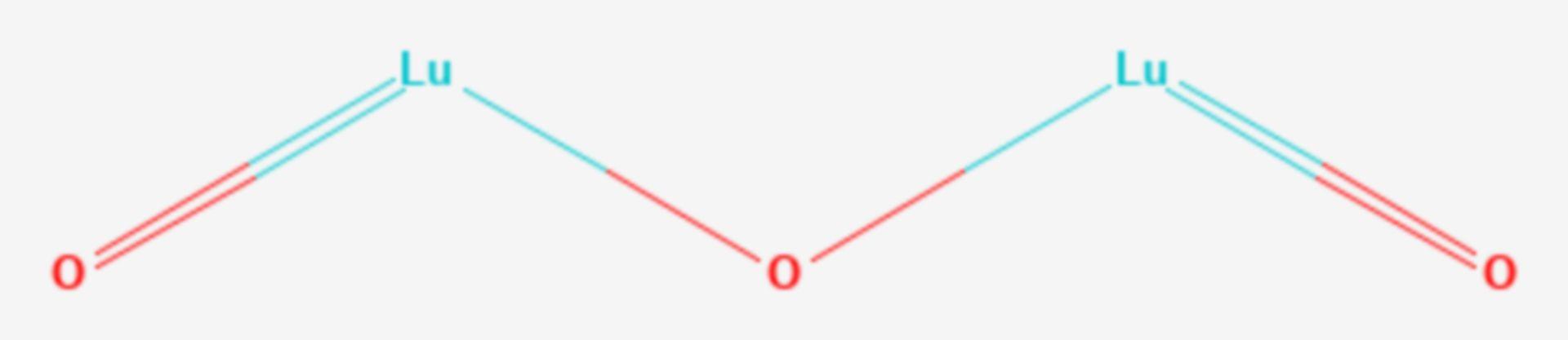 Lutetium(III)-oxid (Strukturformel)