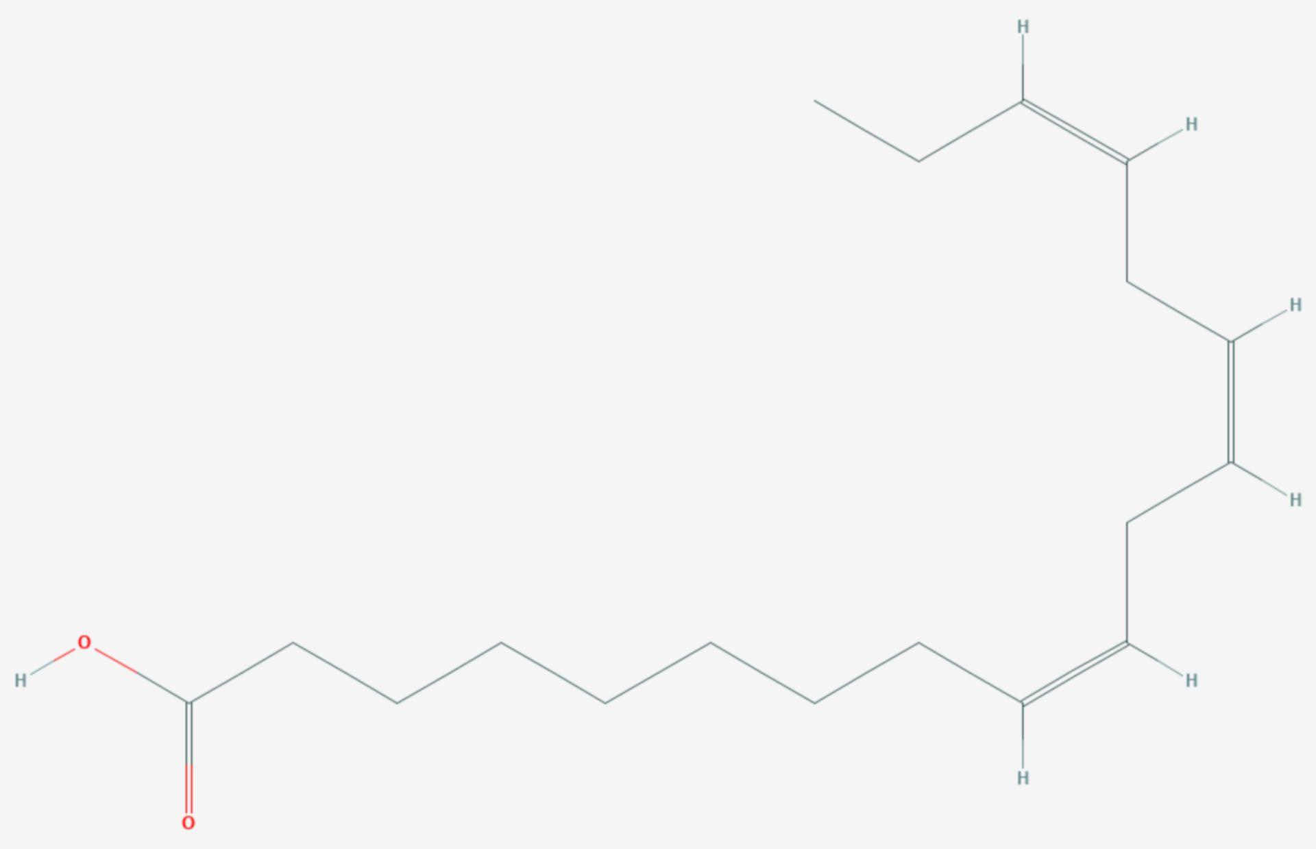 Α-Linolensäure (Strukturformel)