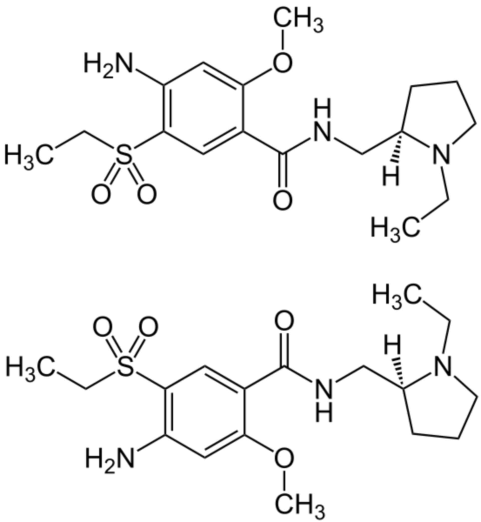Amisulprid Strukturformel