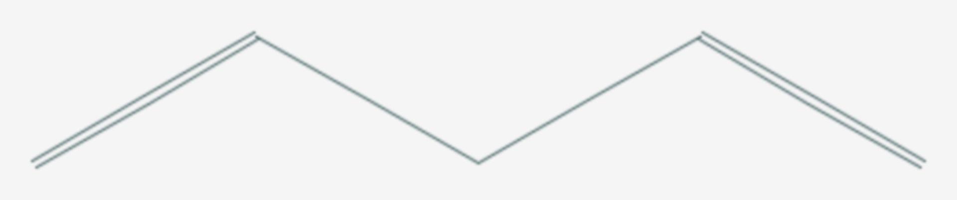 1,4-Pentadien (Strukturformel)