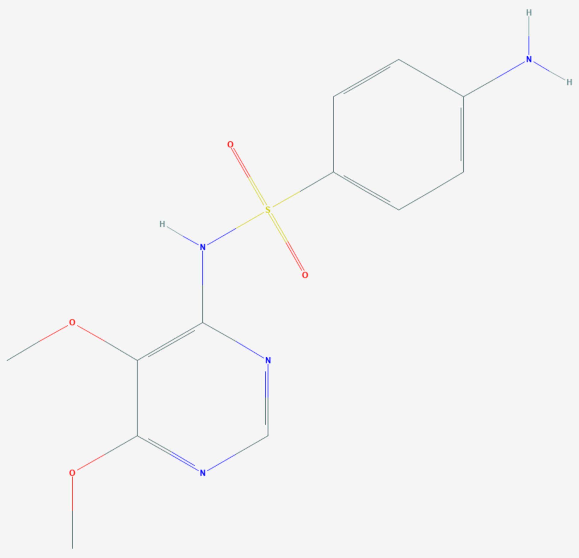 Sulfadoxin (Strukturformel)