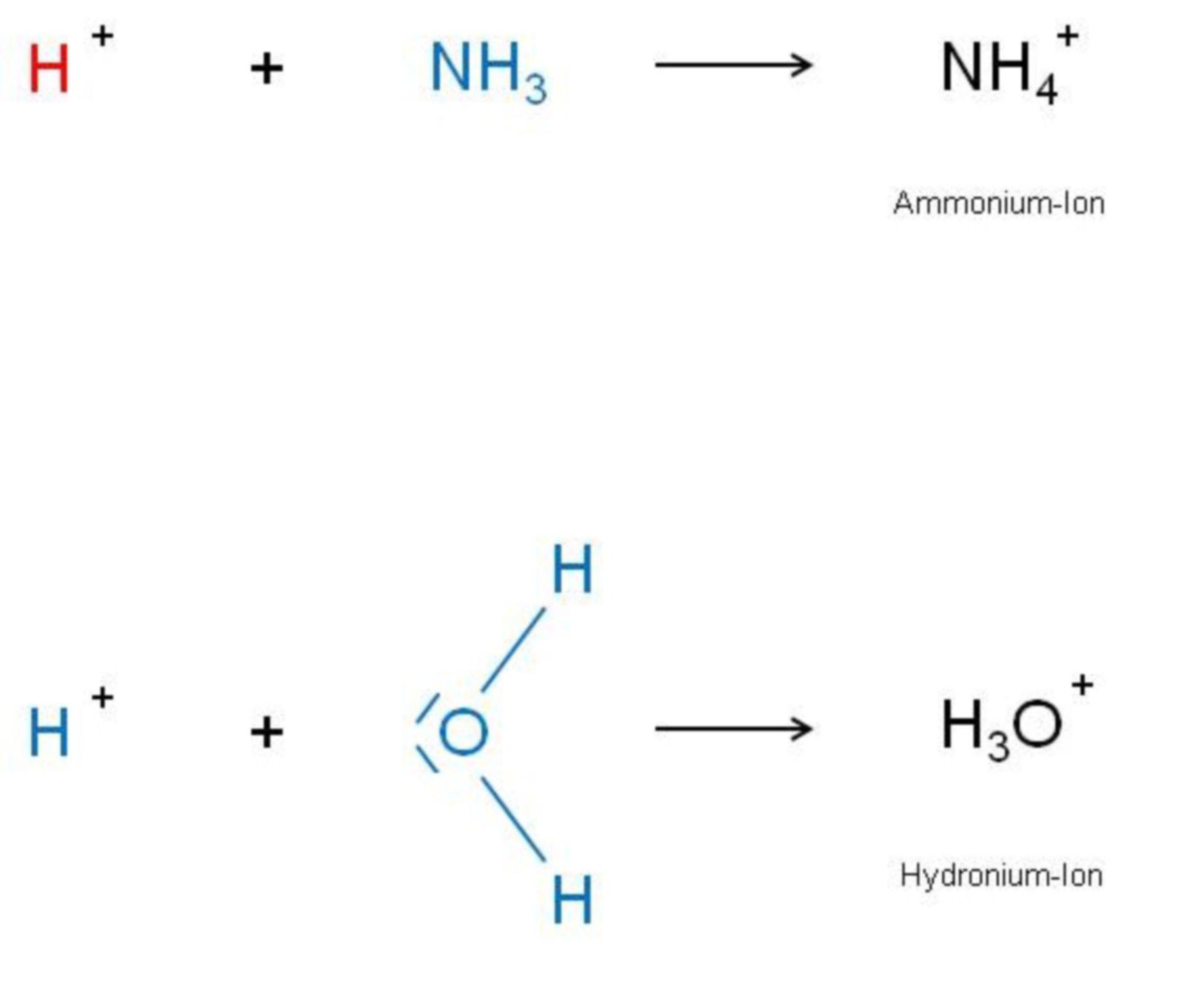 Ammonium-Hydronium-Ion