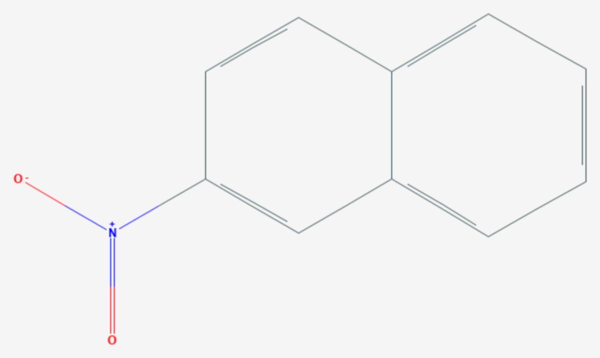 2-Nitronaphthalin (Strukturformel)