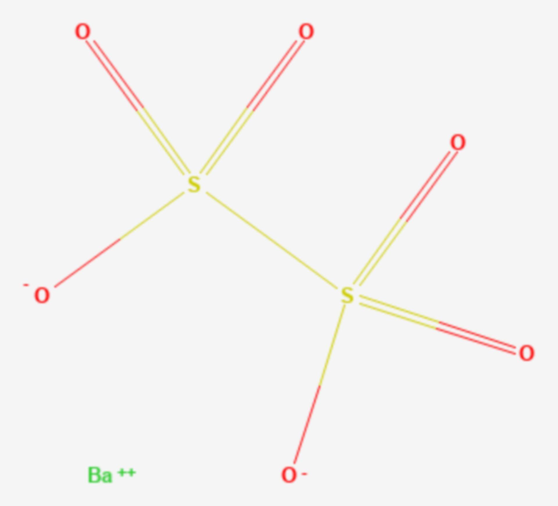 Bariumdithionat (Strukturformel)