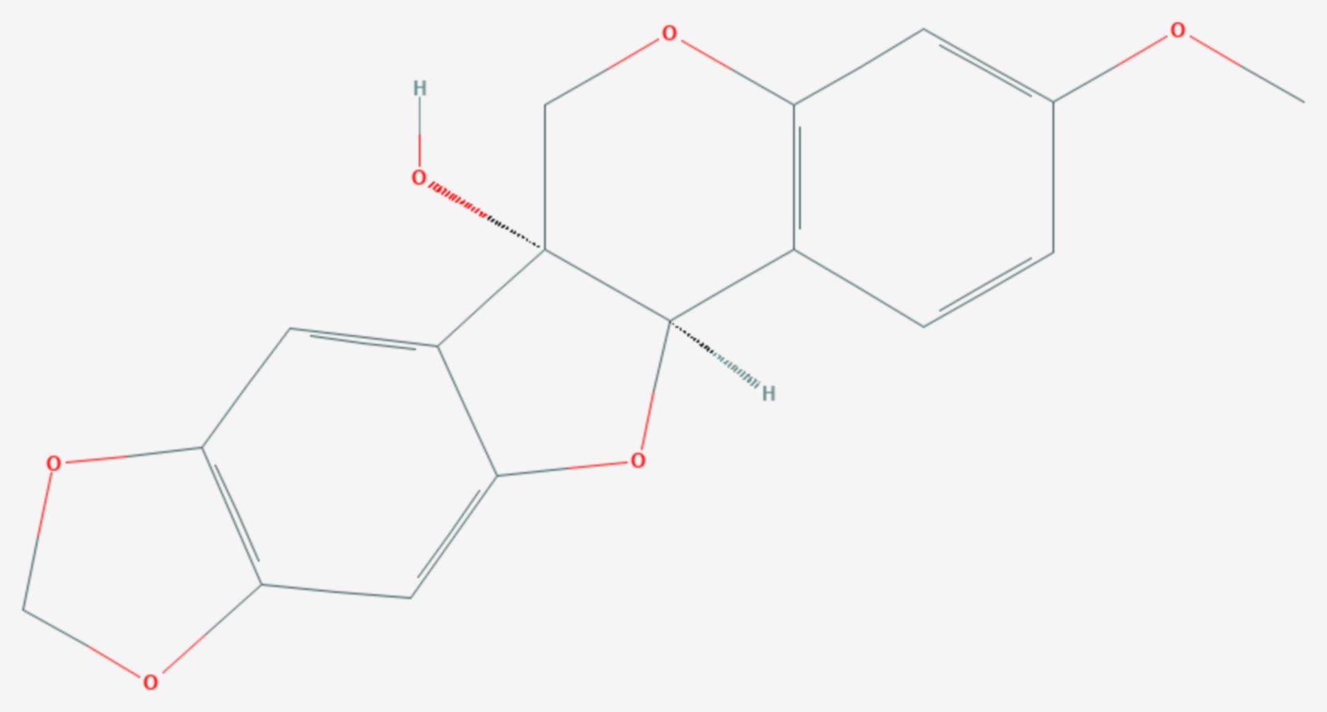 Pisatin (Strukturformel)