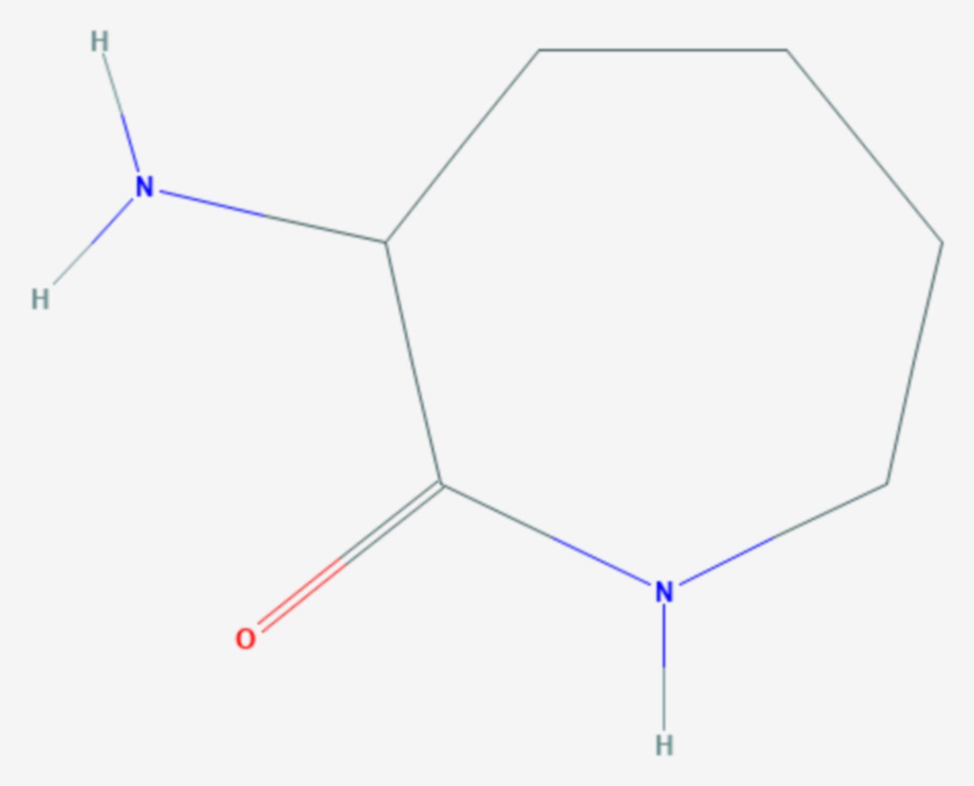 3-Amino-2-azepanon (Strukturformel)