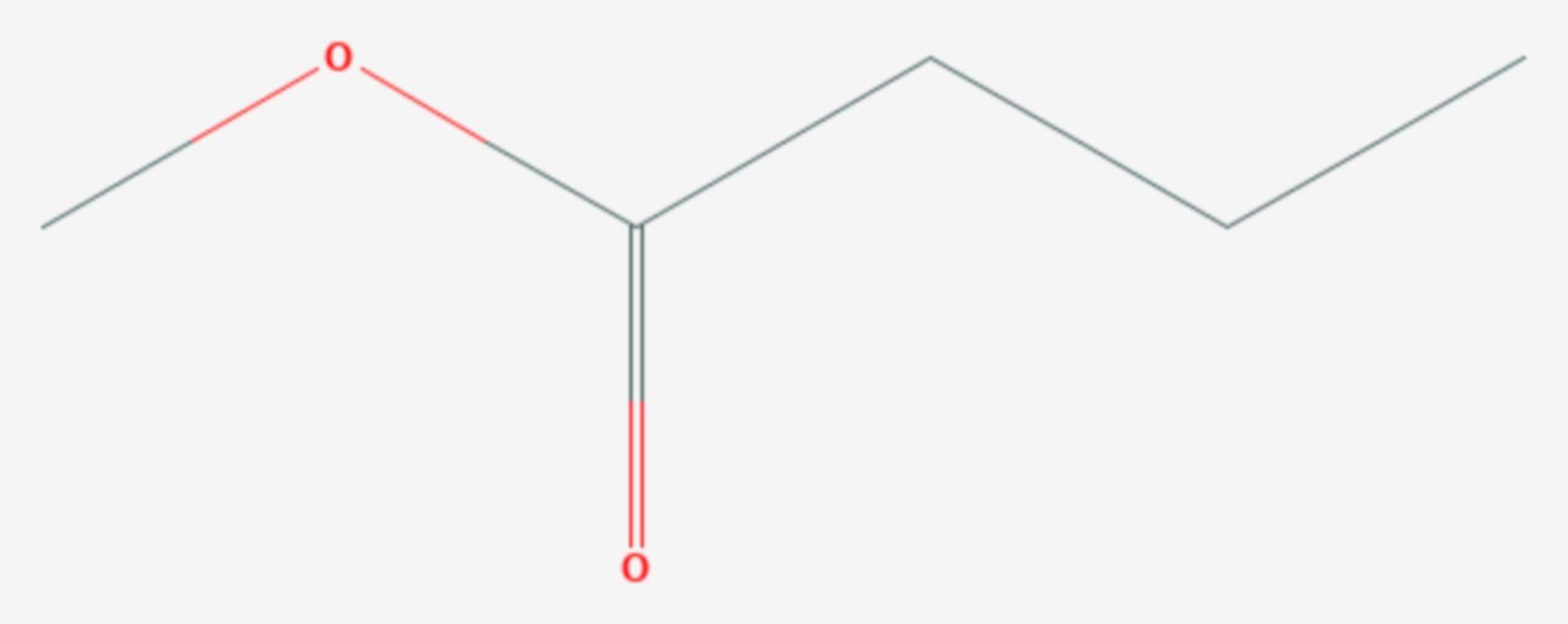 Buttersäuremethylester (Strukturformel)