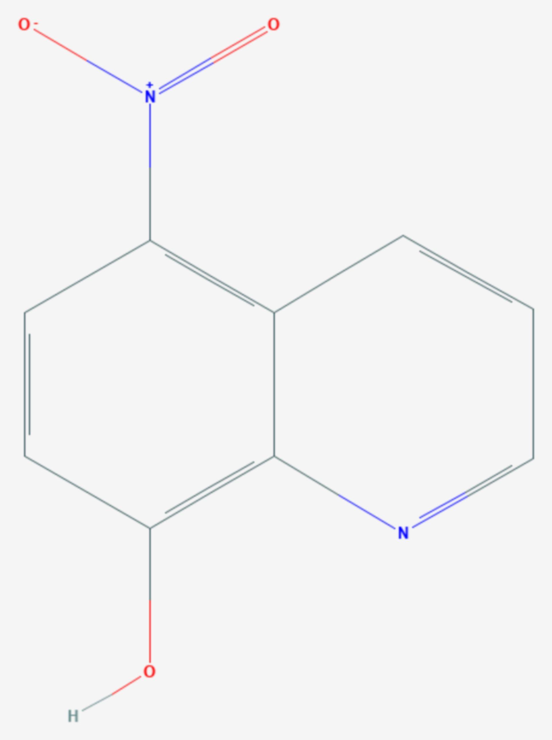Nitroxolin (Strukturformel)