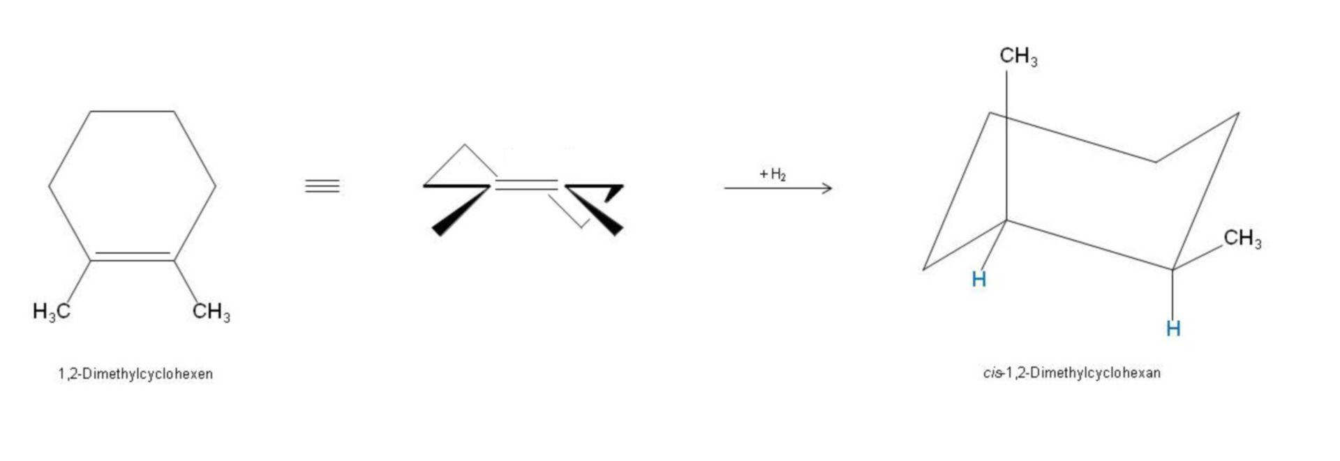 Aggiunta di cis - 1,2-dimetilcicloesano