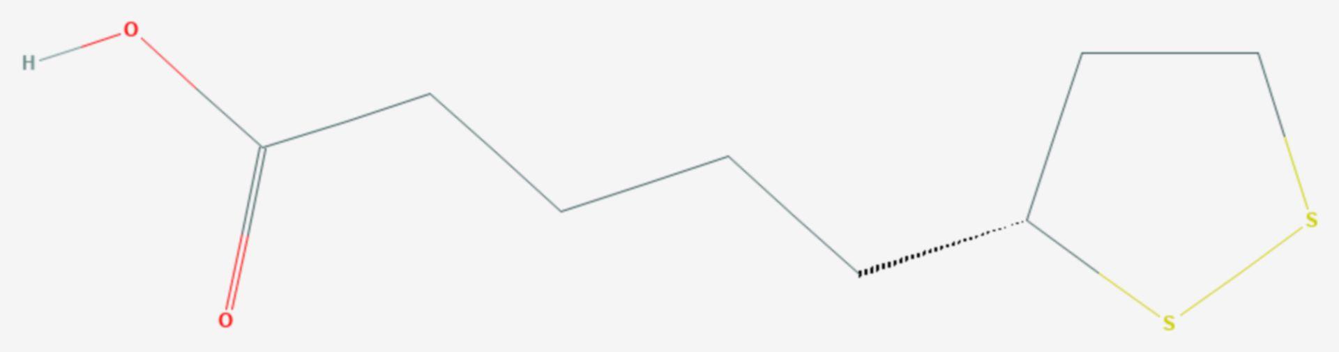 Liponsäure (Strukturformel)