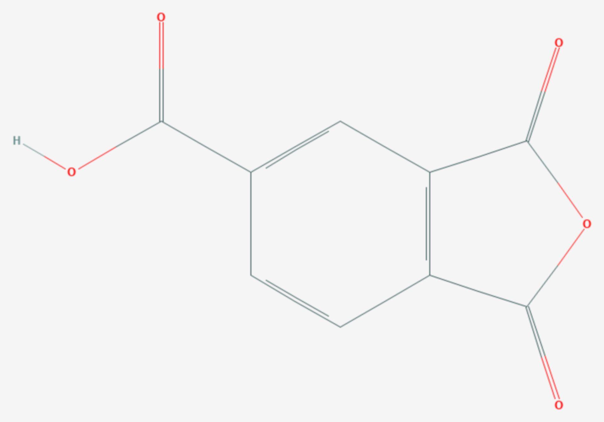 Trimellitsäureanhydrid (Strukturformel)
