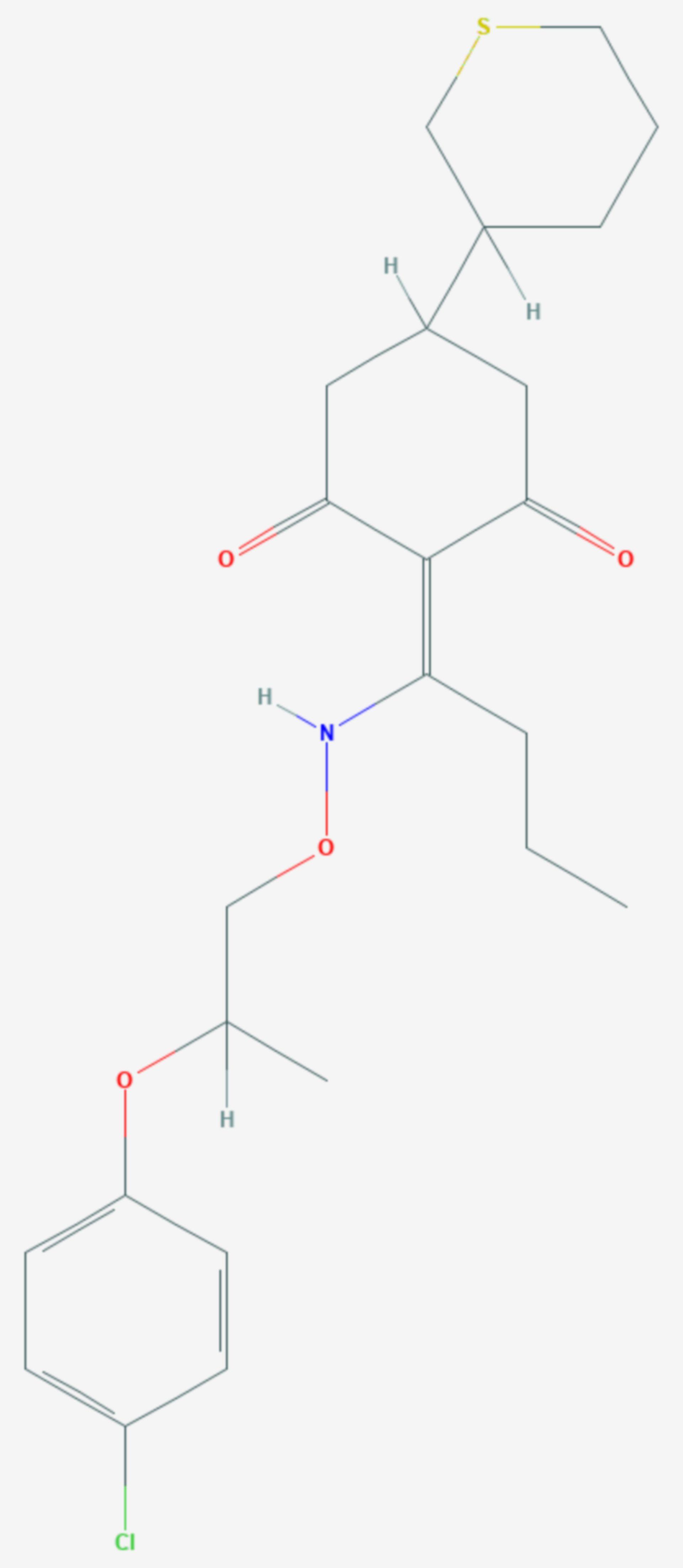 Profoxydim (Strukturformel)