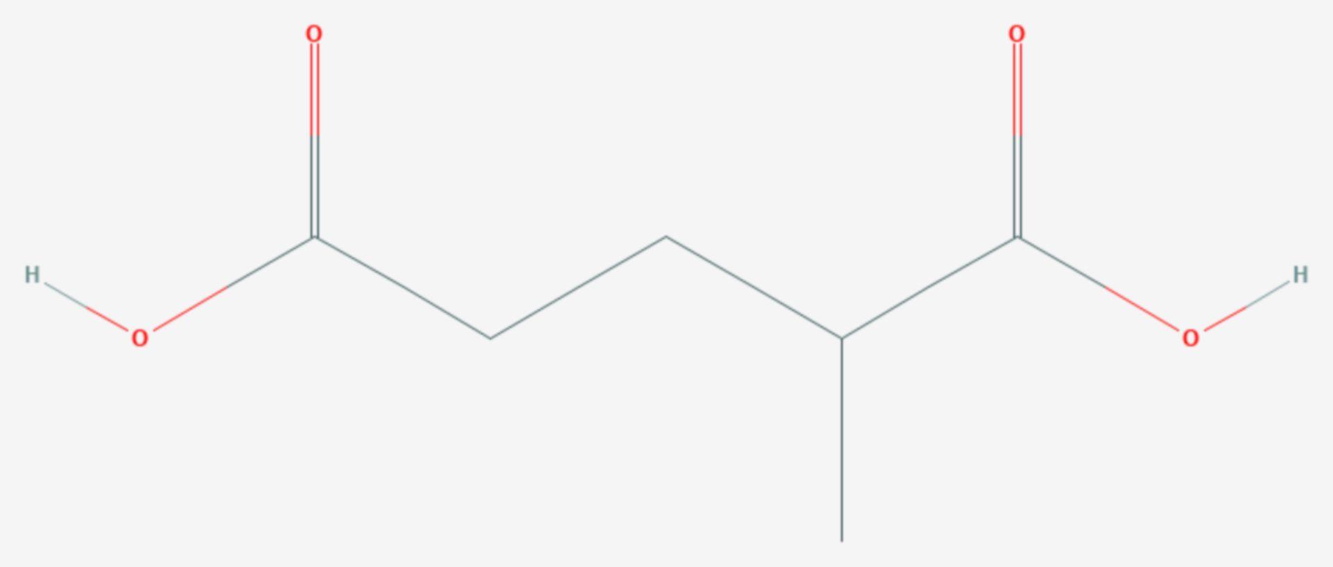 2-Methylglutarsäure (Strukturformel)