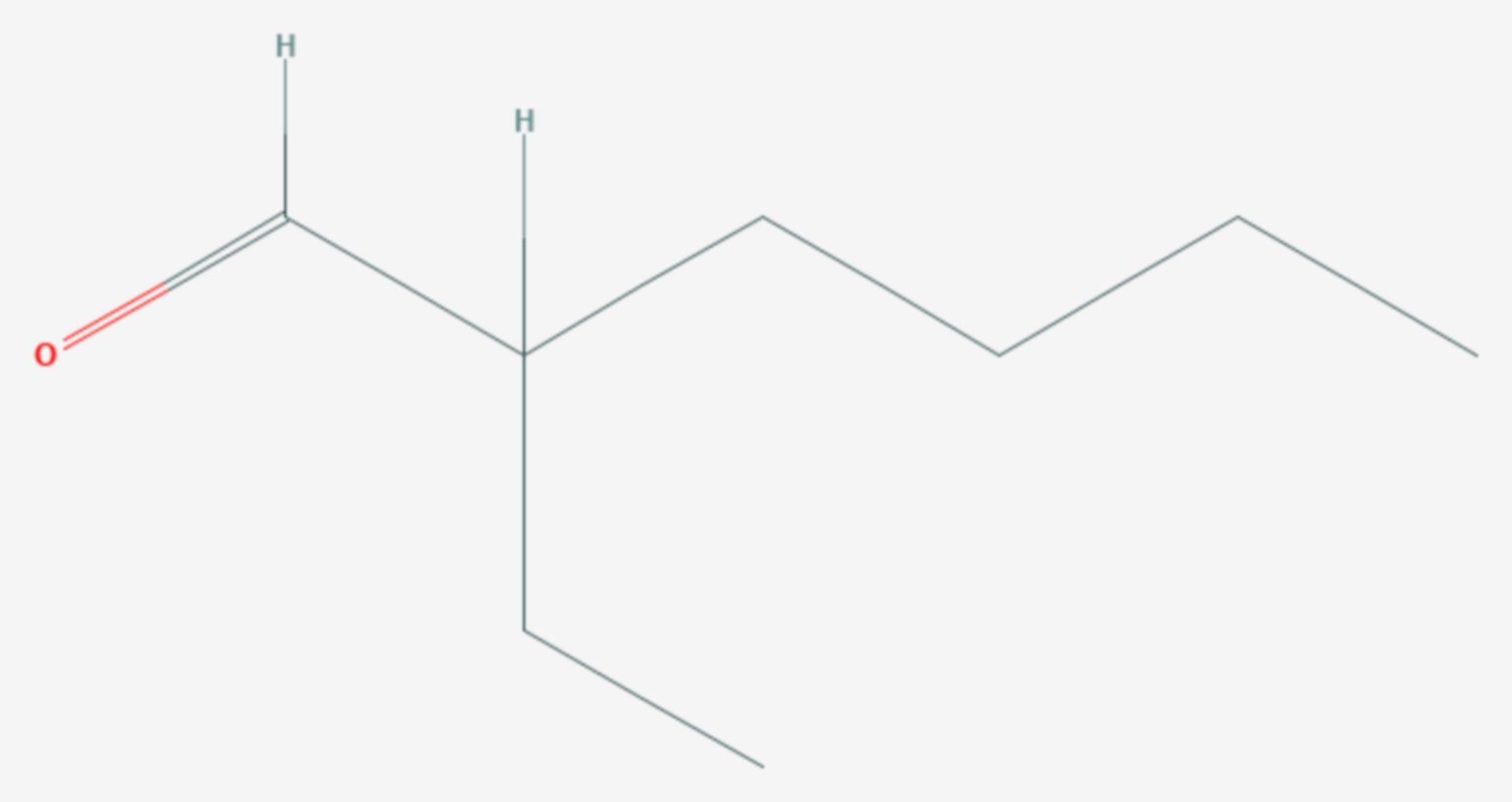 2-Ethylhexanal (Strukturformel)