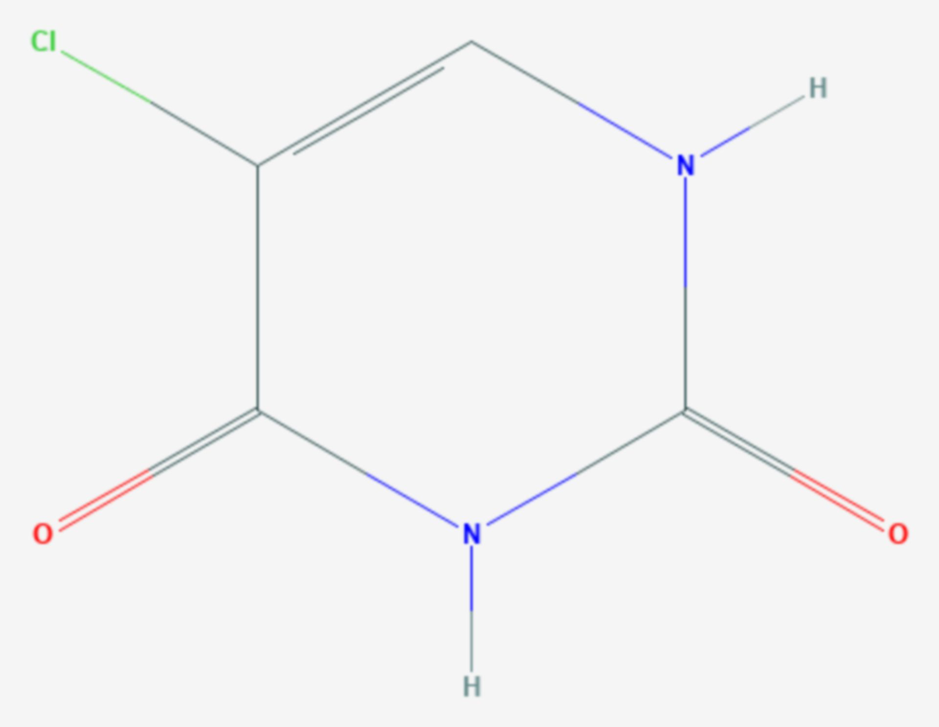 5-Chloruracil (Strukturformel)