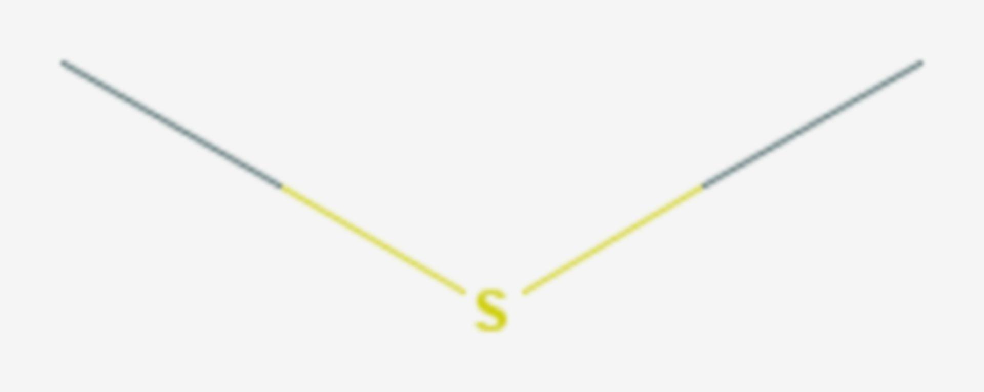 Dimethylsulfid (Strukturformel)