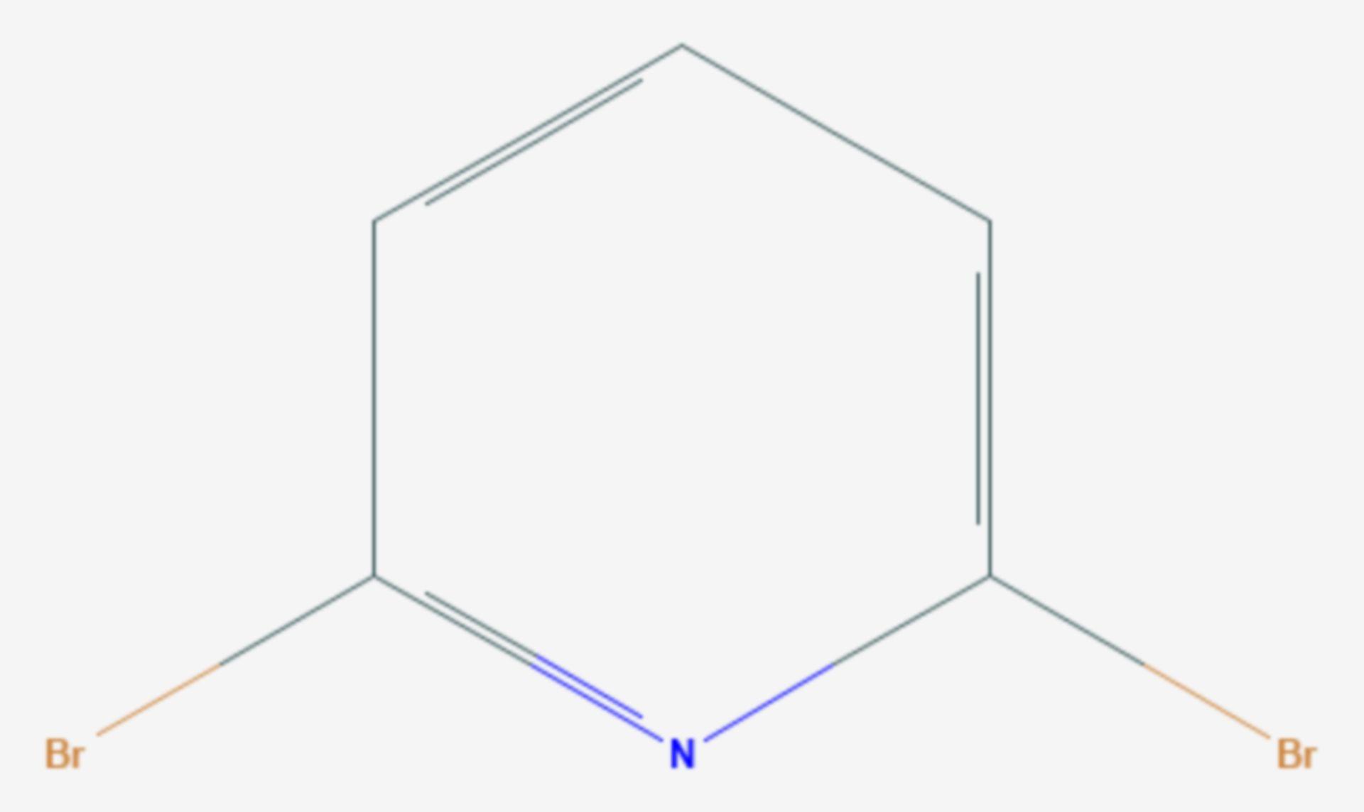 2,6-Dibrompyridin (Strukturformel)