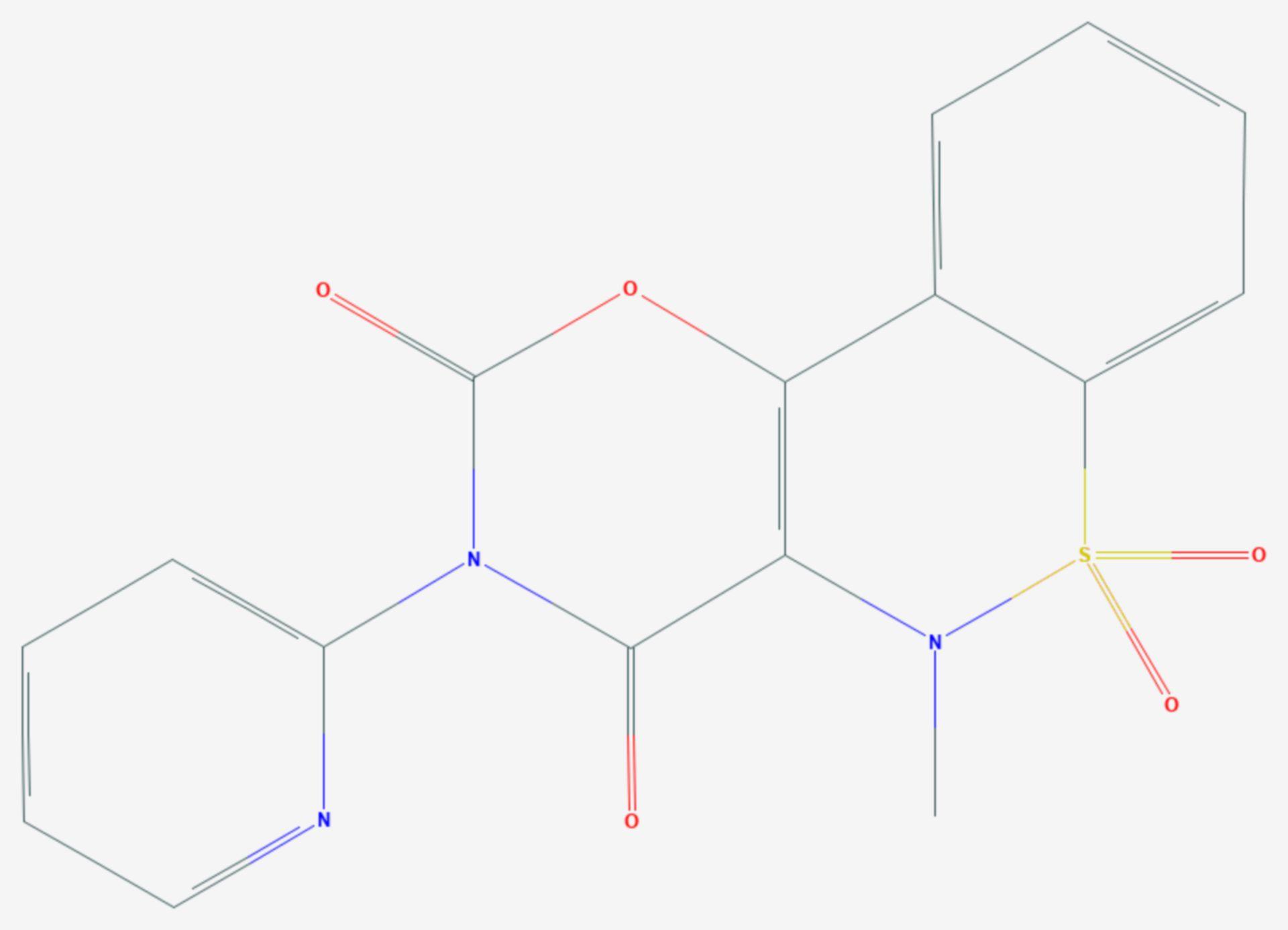 Droxicam (Strukturformel)