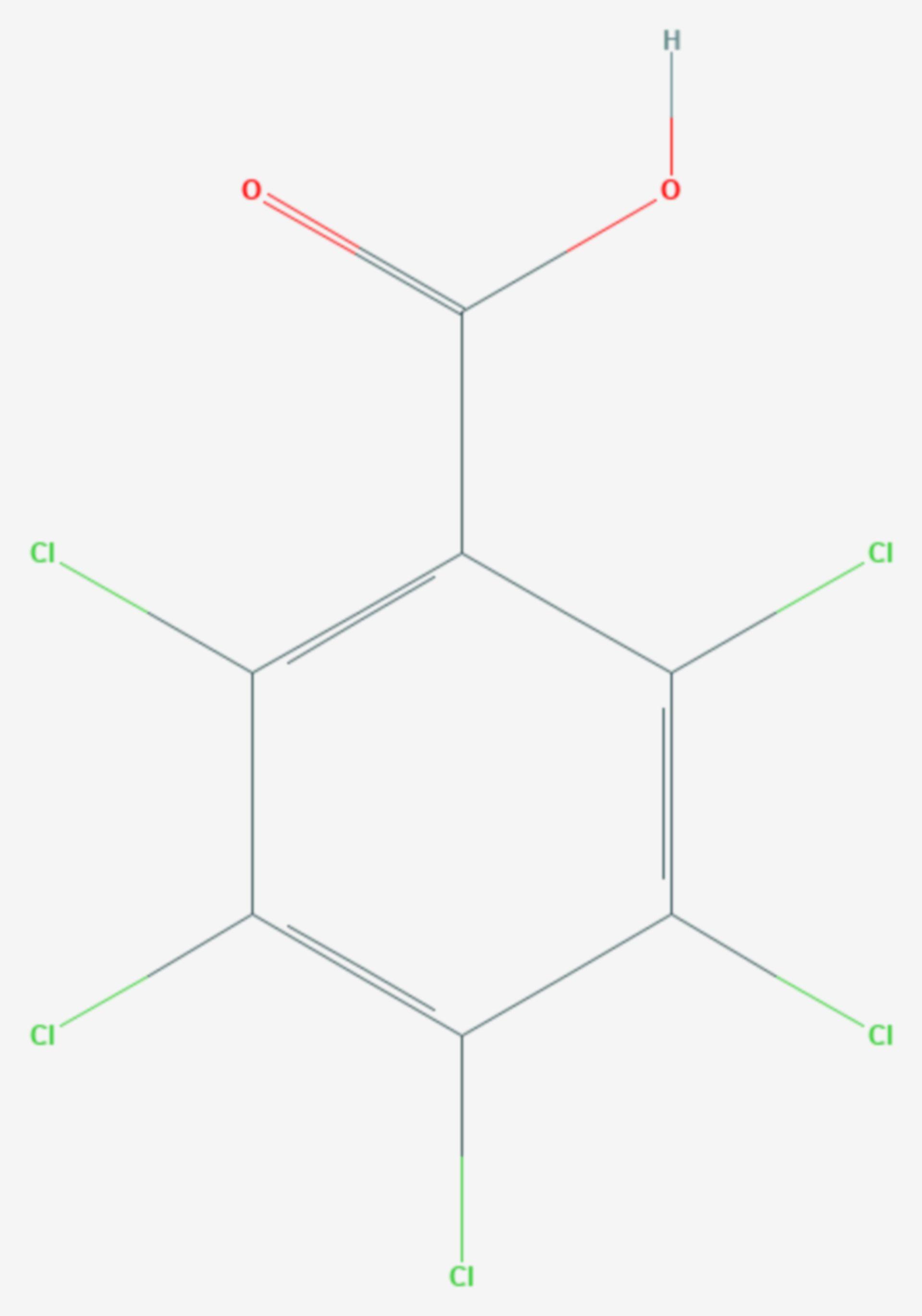 Pentachlorbenzoesäure (Strukturformel)