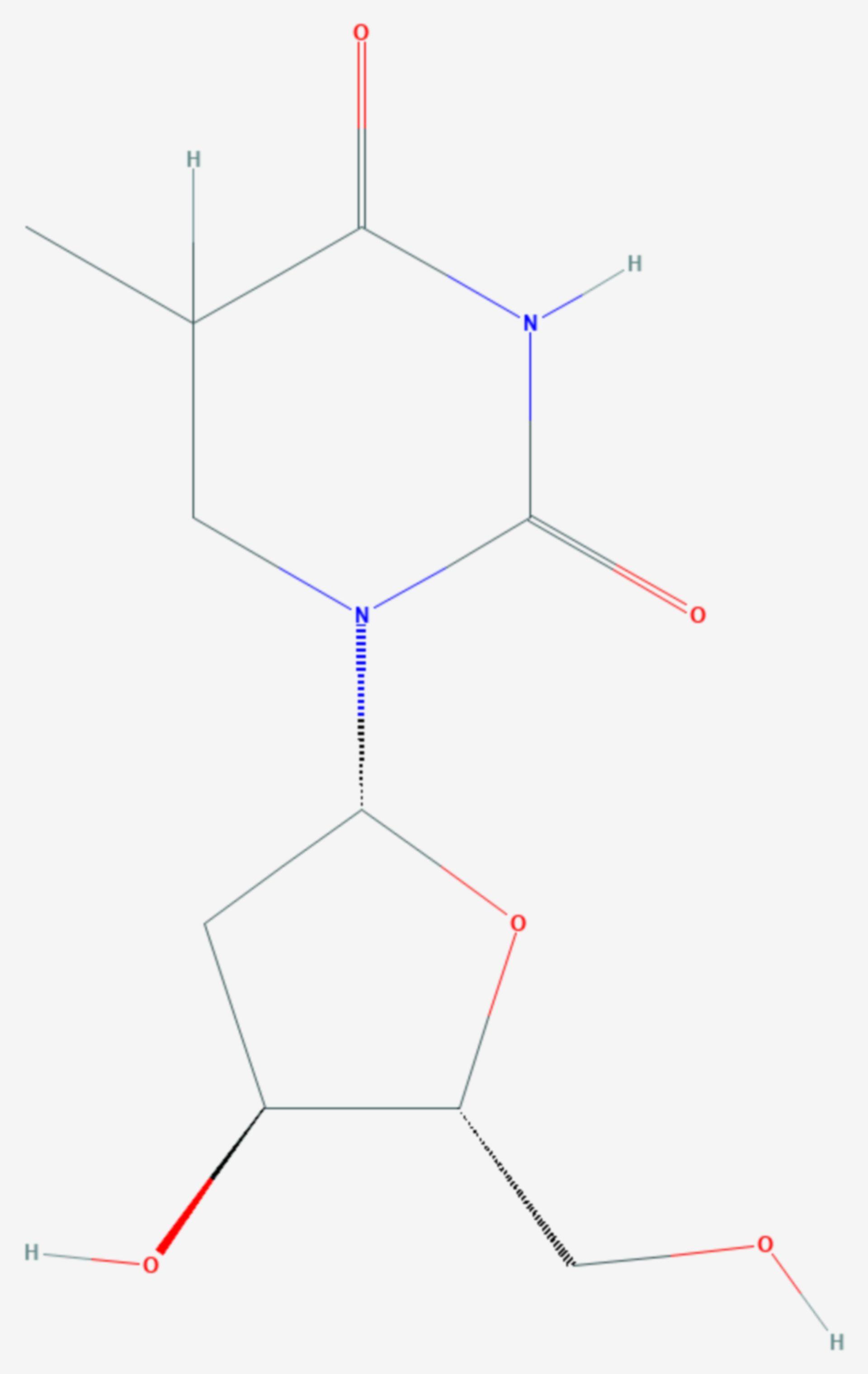 Dihydrothymidin (Strukturformel)