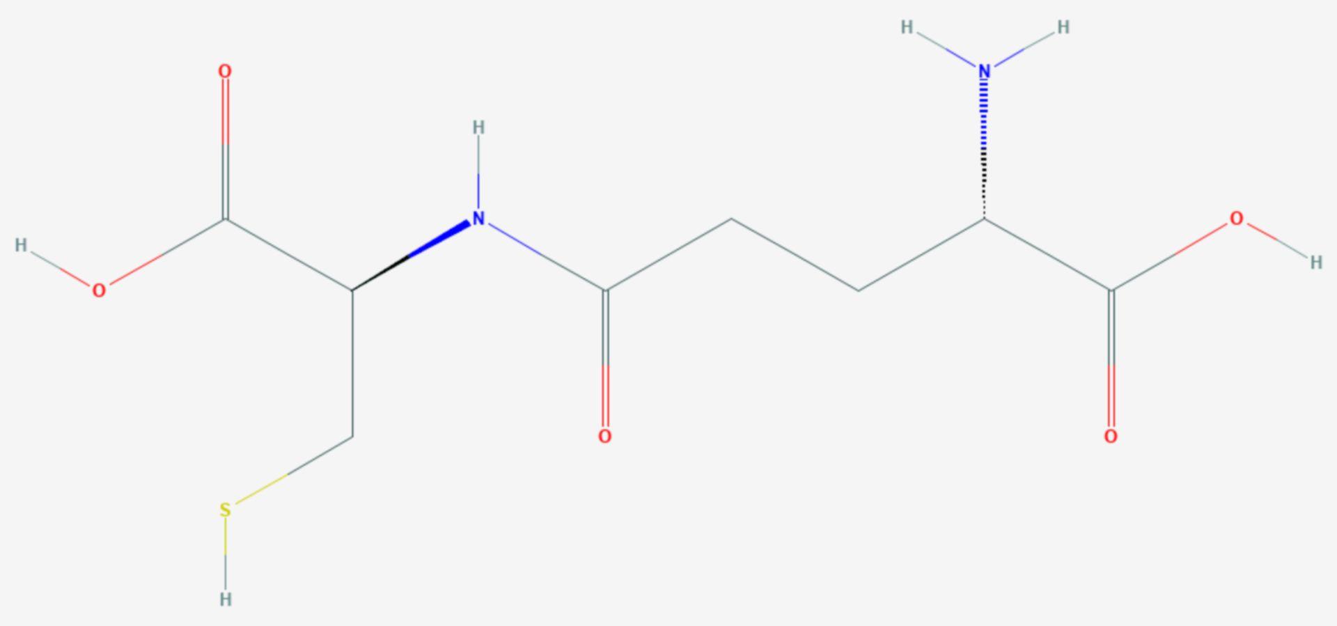 Γ-Glutamylcystein (Strukturformel)