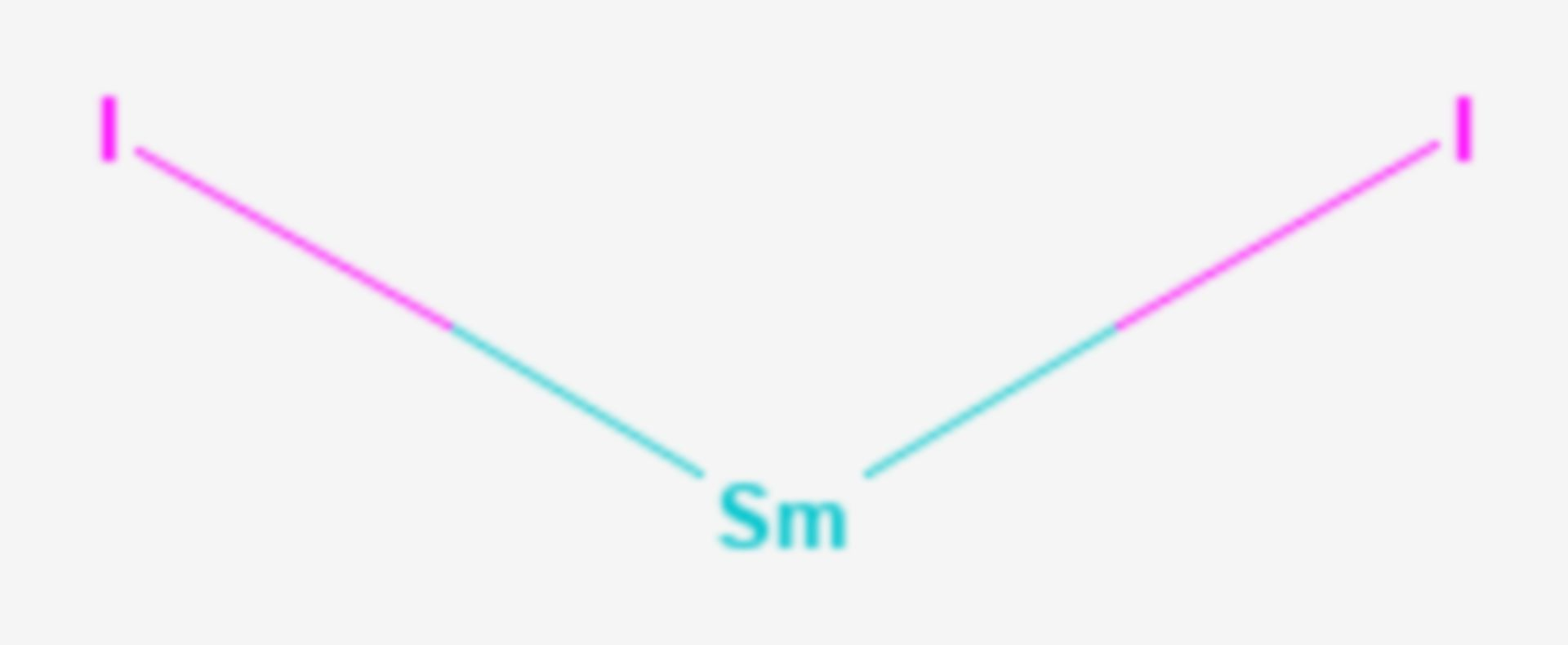 Samarium(II)-iodid (Strukturformel)