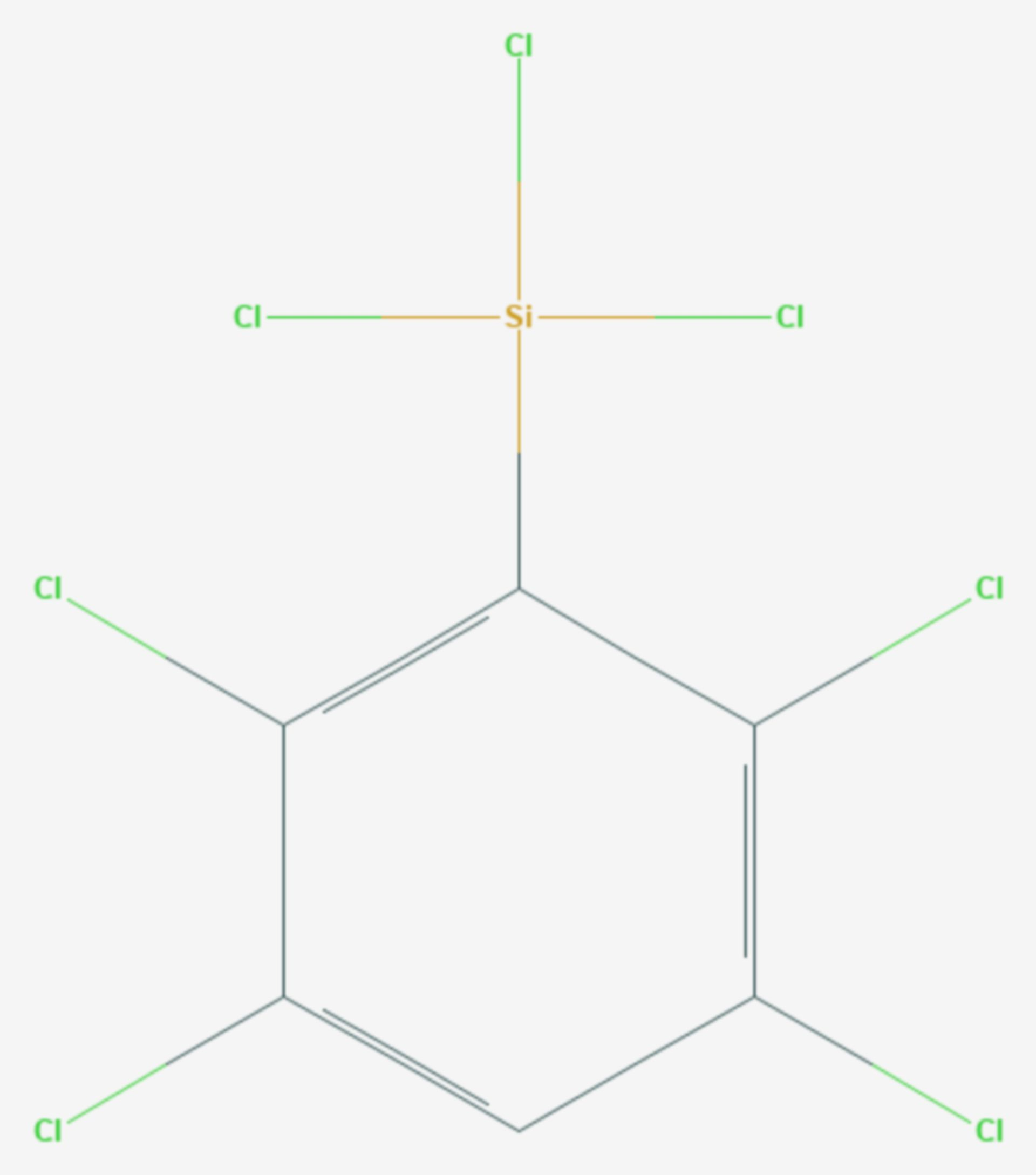 Tetrachlorphenyltrichlorsilan (Strukturformel)