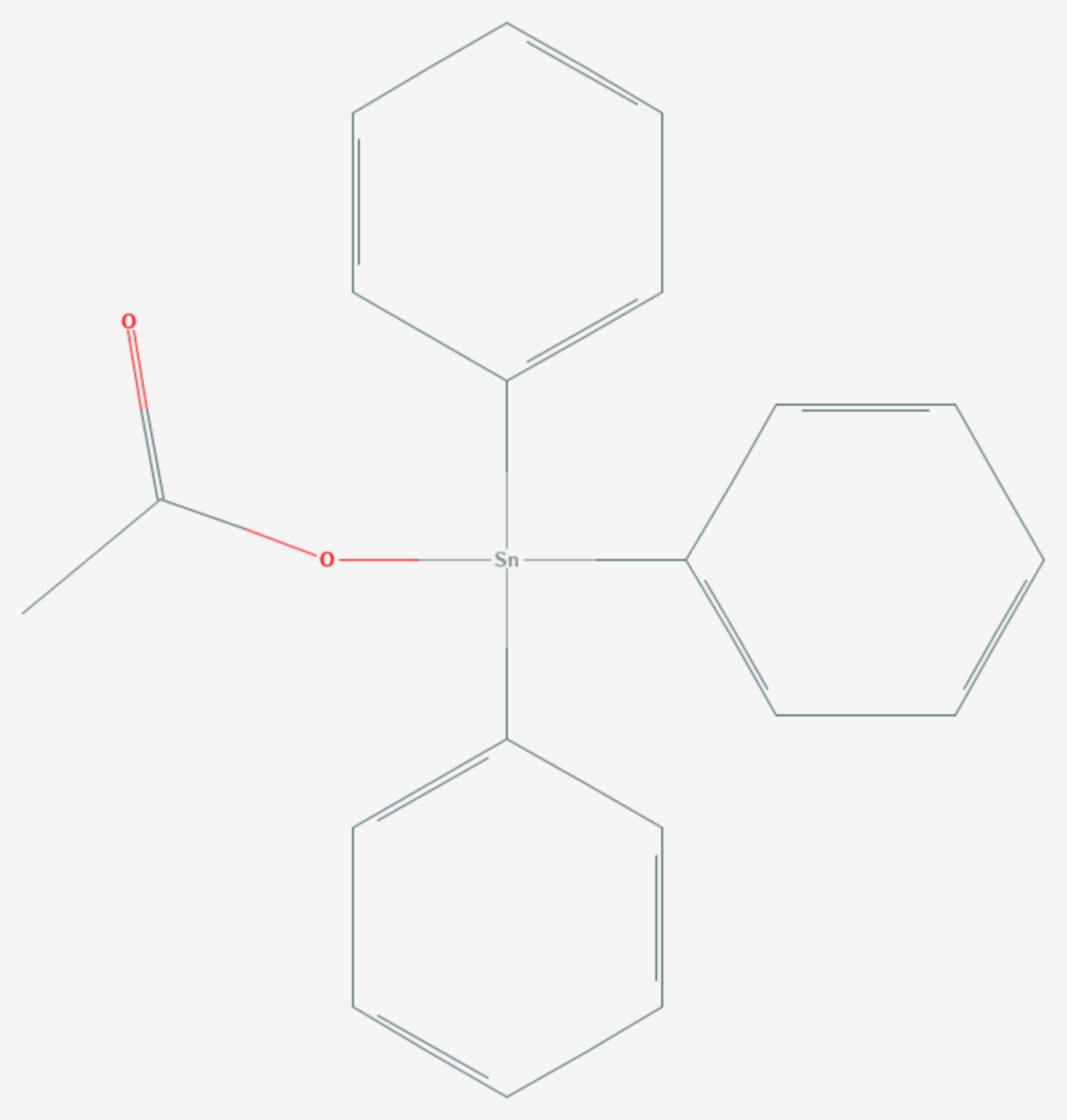 Fentinacetat (Strukturformel)