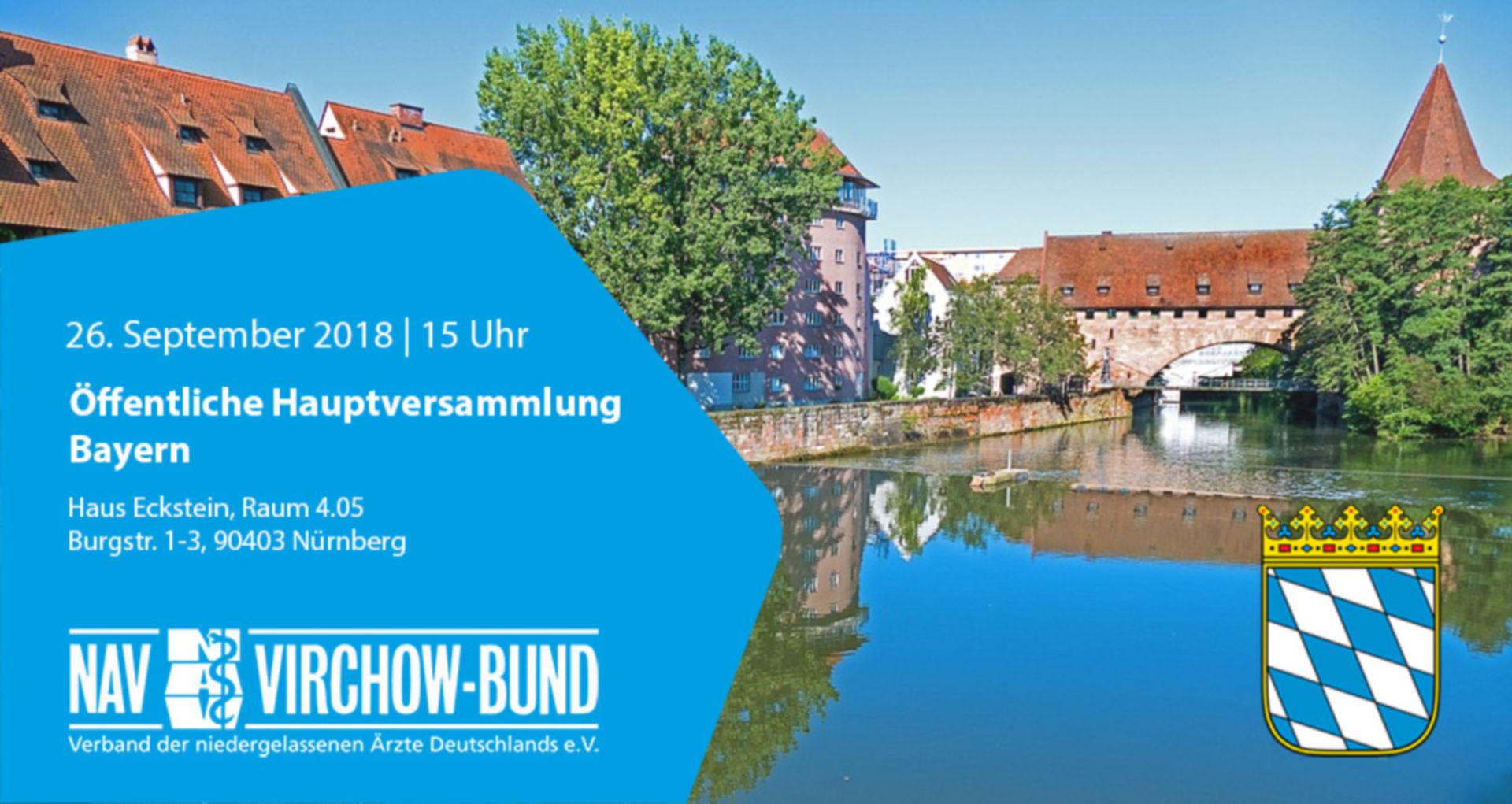 Einladung: 26.9.2018 | Landeshauptversammlung Bayern im NAV-Virchow-Bund