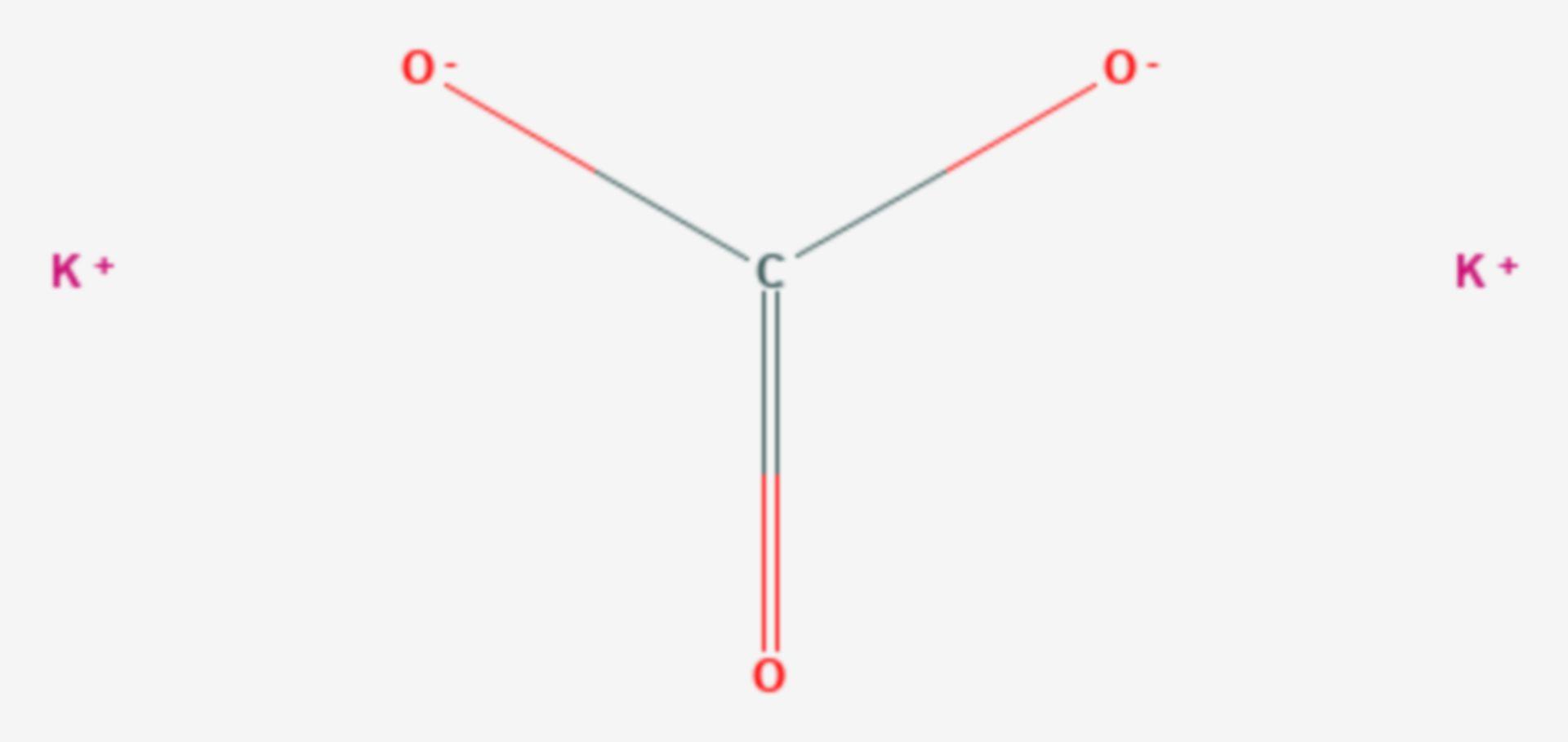 Kaliumcarbonat (Strukturformel)