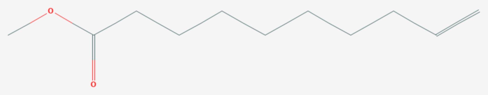 Methyl-9-decenoat (Strukturformel)