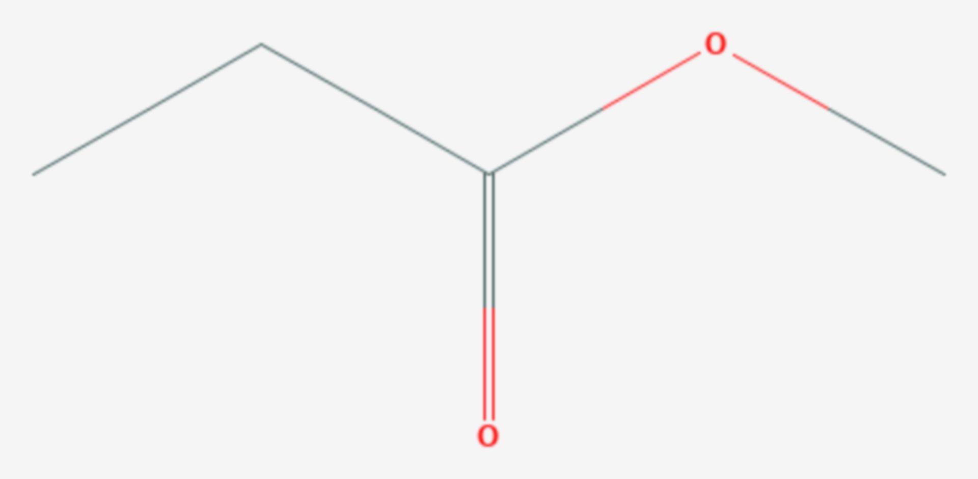 Propionsäuremethylester (Strukturformel)