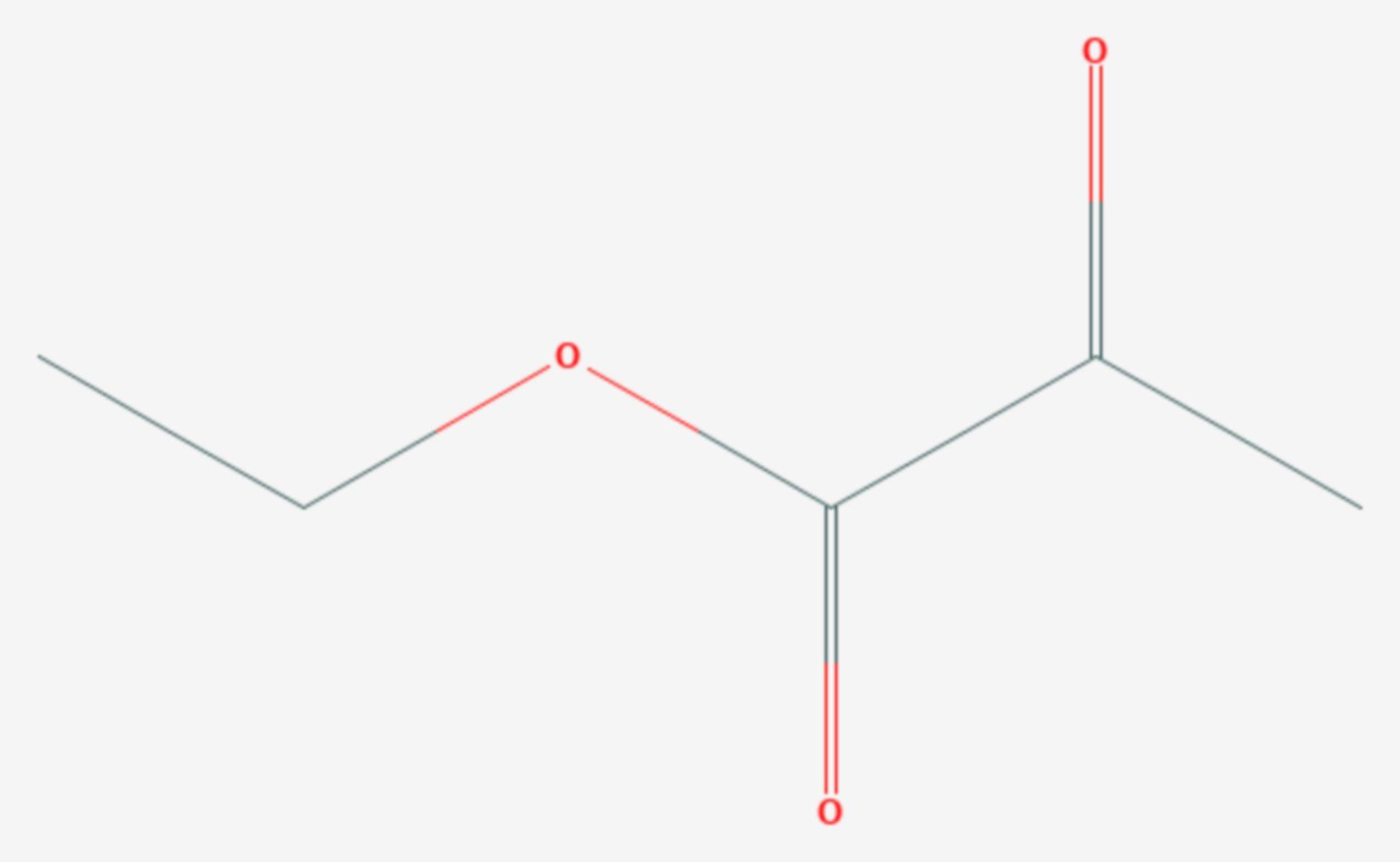Brenztraubensäureethylester (Strukturformel)