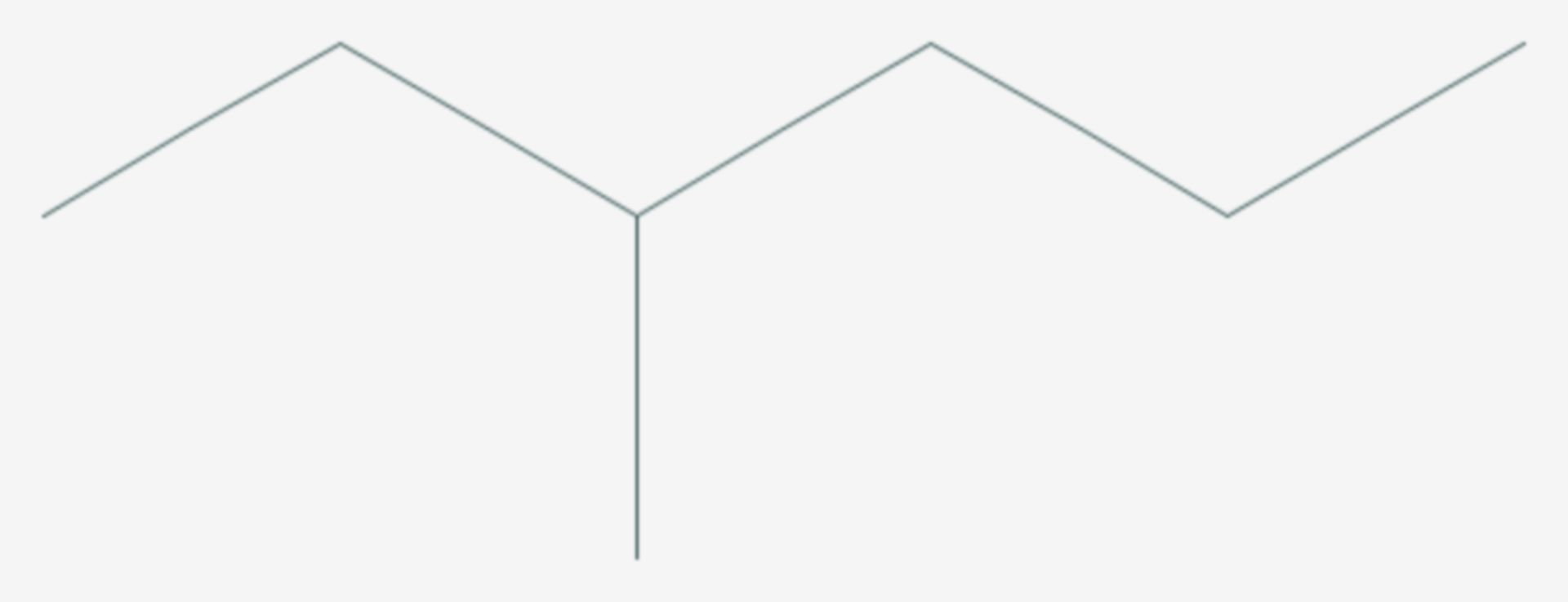 3-Methylhexan (Strukturformel)
