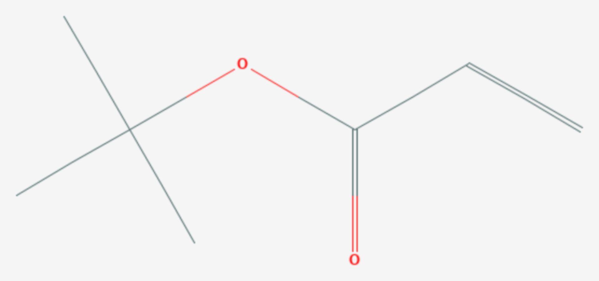 Acrylsäure-tert-butylester (Strukturformel)