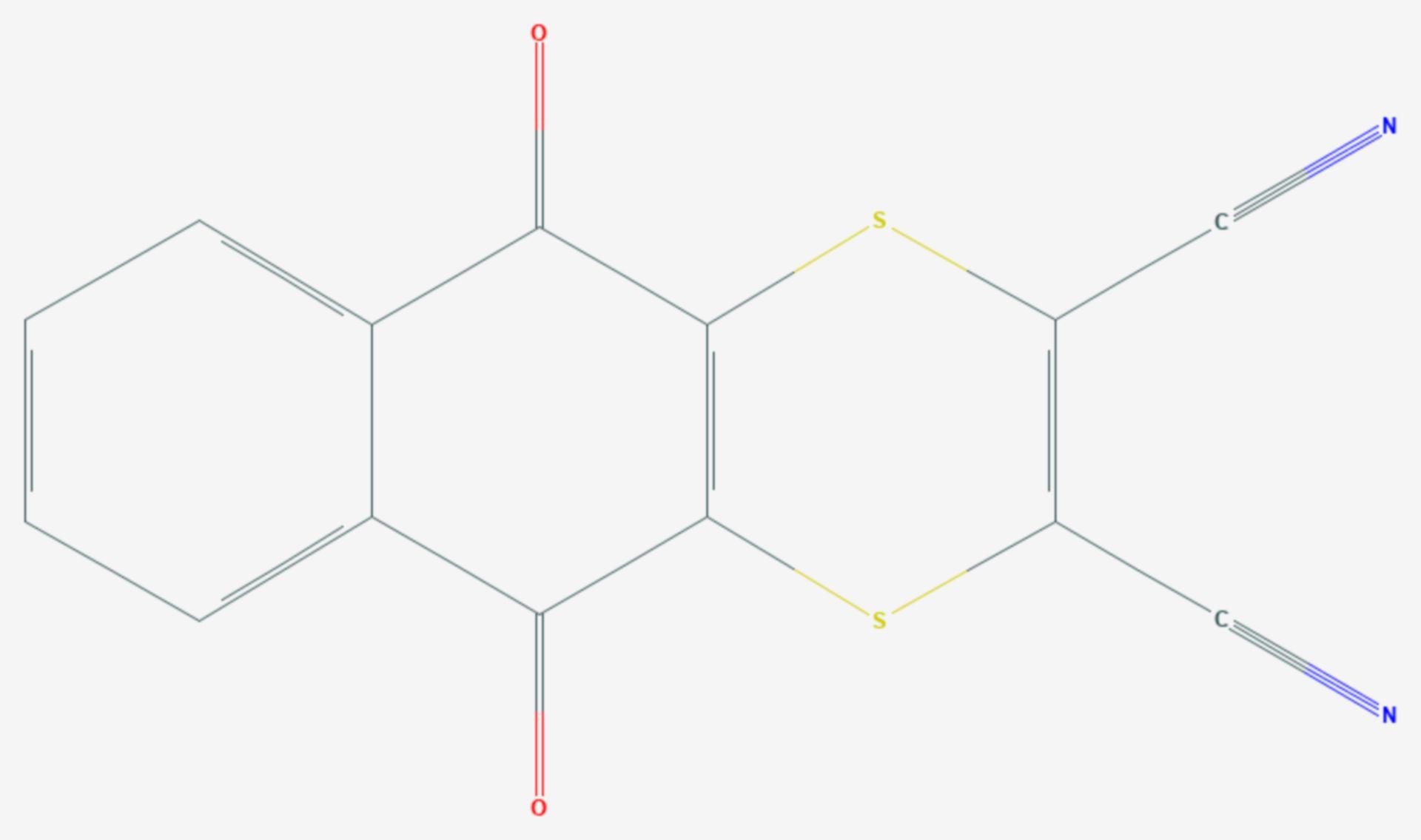 Dithianon (Strukturformel)