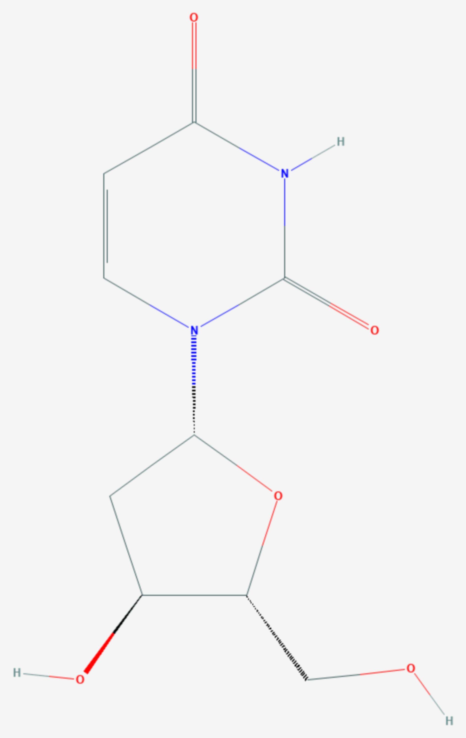 Desoxyuridin (Strukturformel)