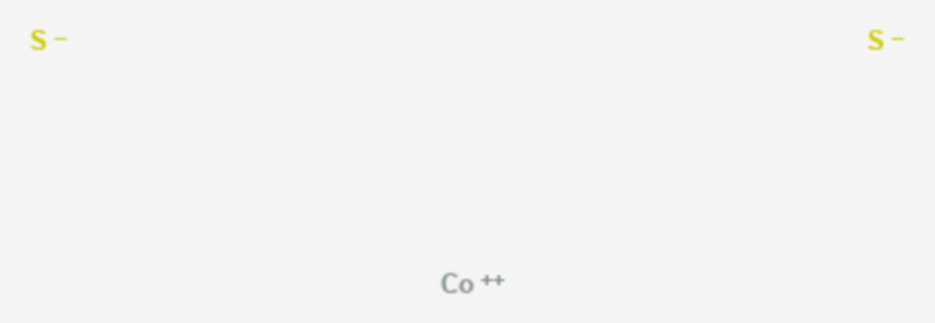 Cobaltdisulfid (Strukturformel)