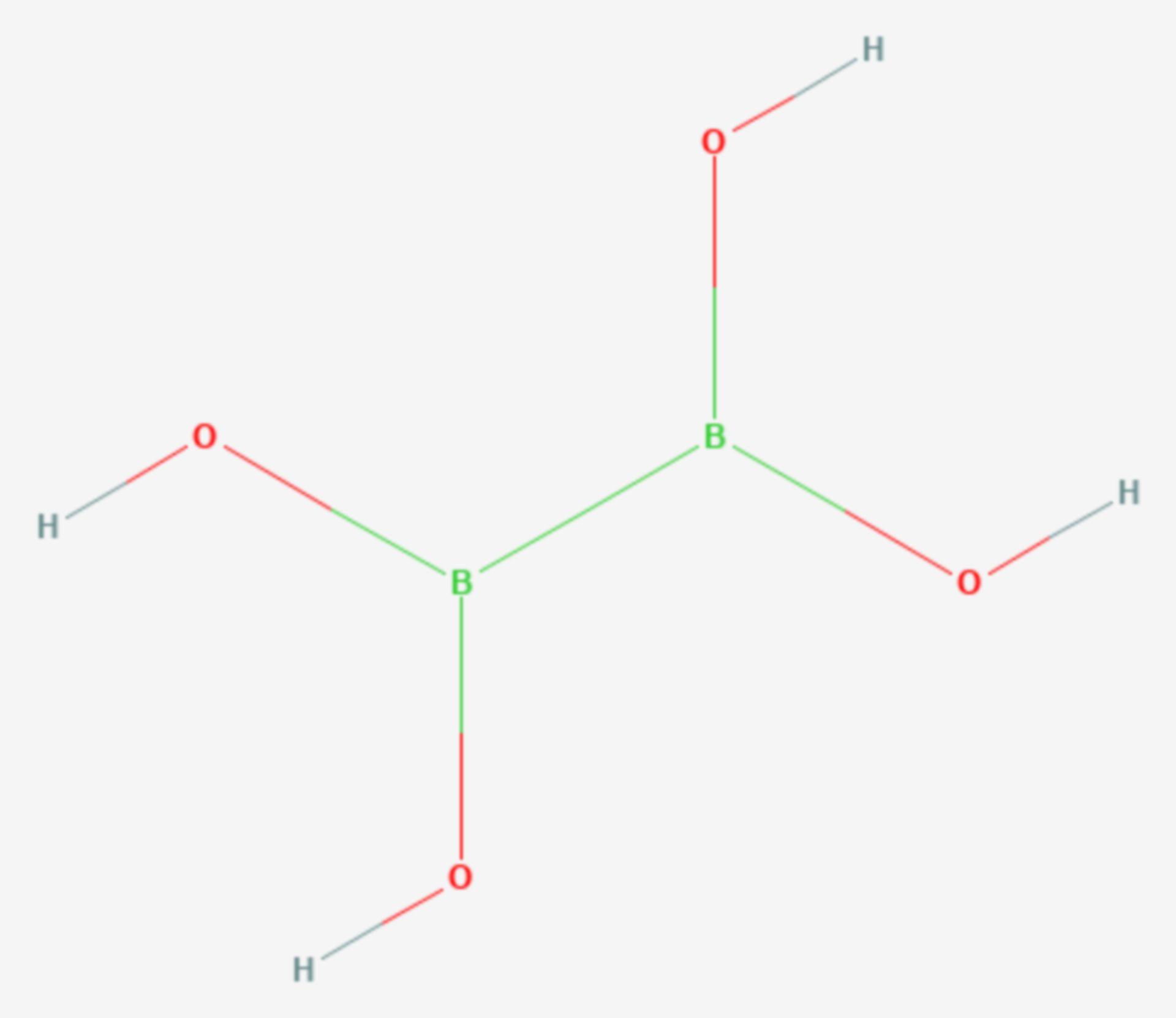 Tetrahydroxydiboron (Strukturformel)