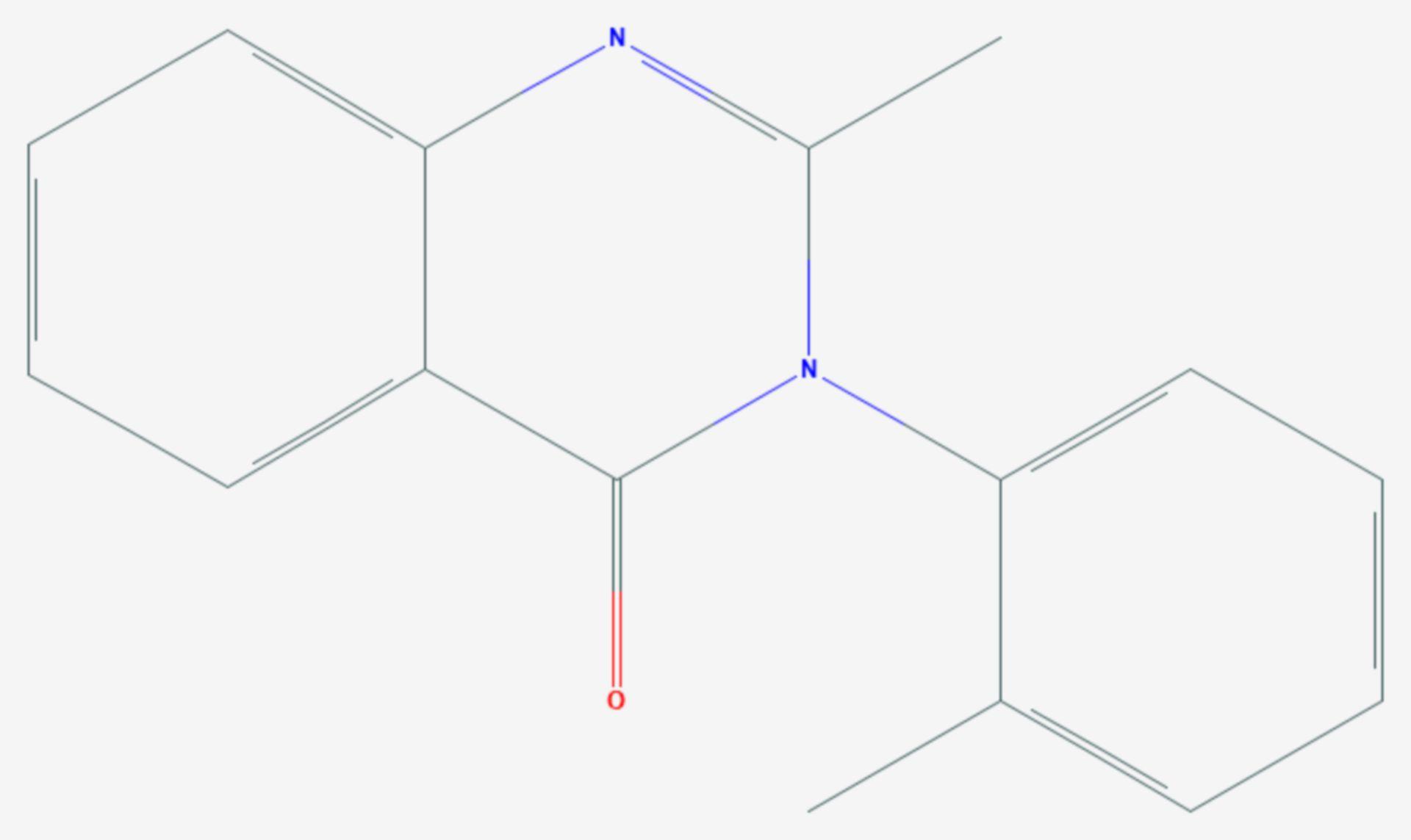 Methaqualon (Strukturformel)