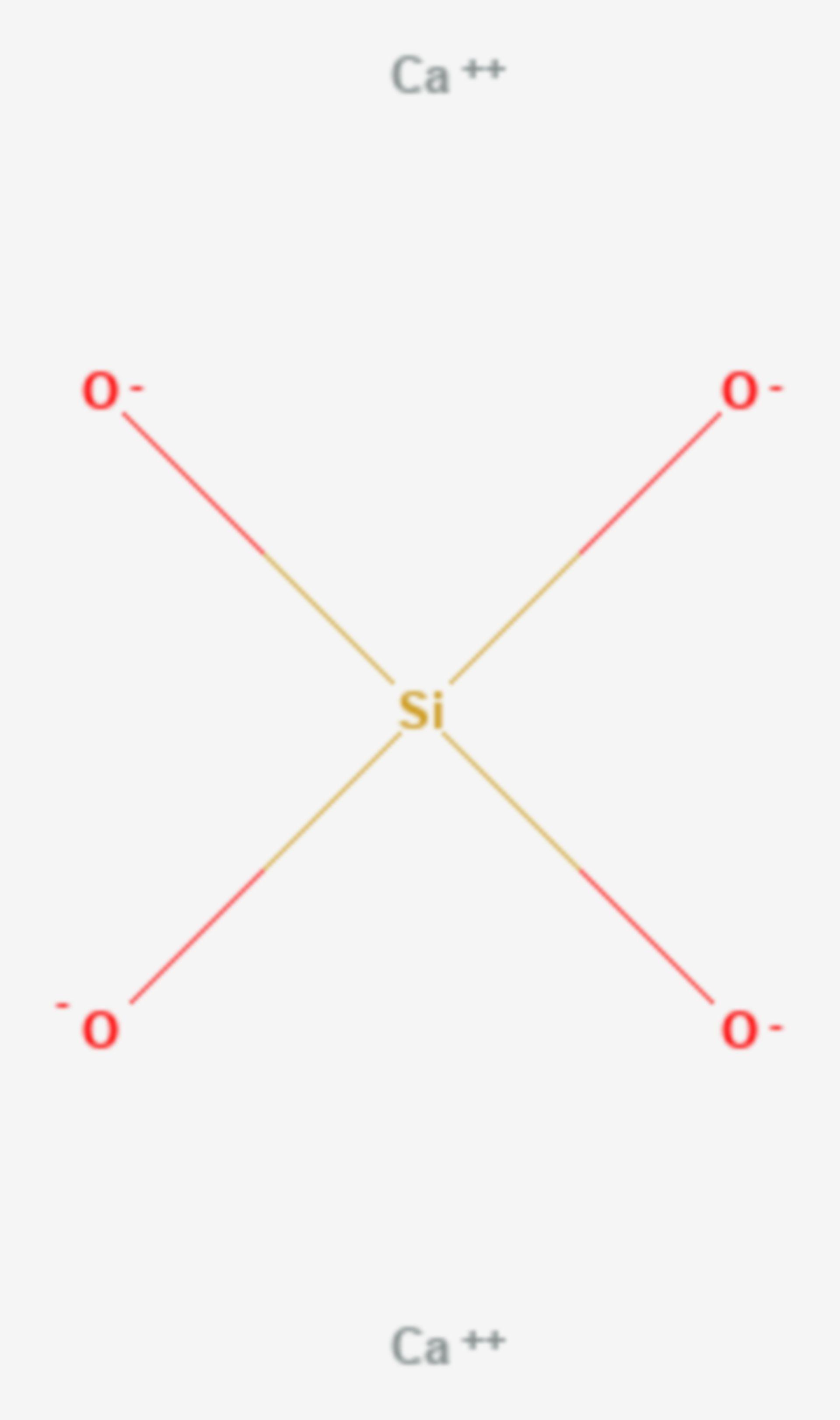 Calciumsilicat (Strukturformel)