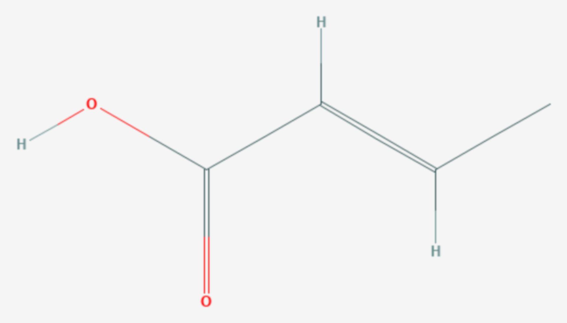 Crotonsäure (Strukturformel)