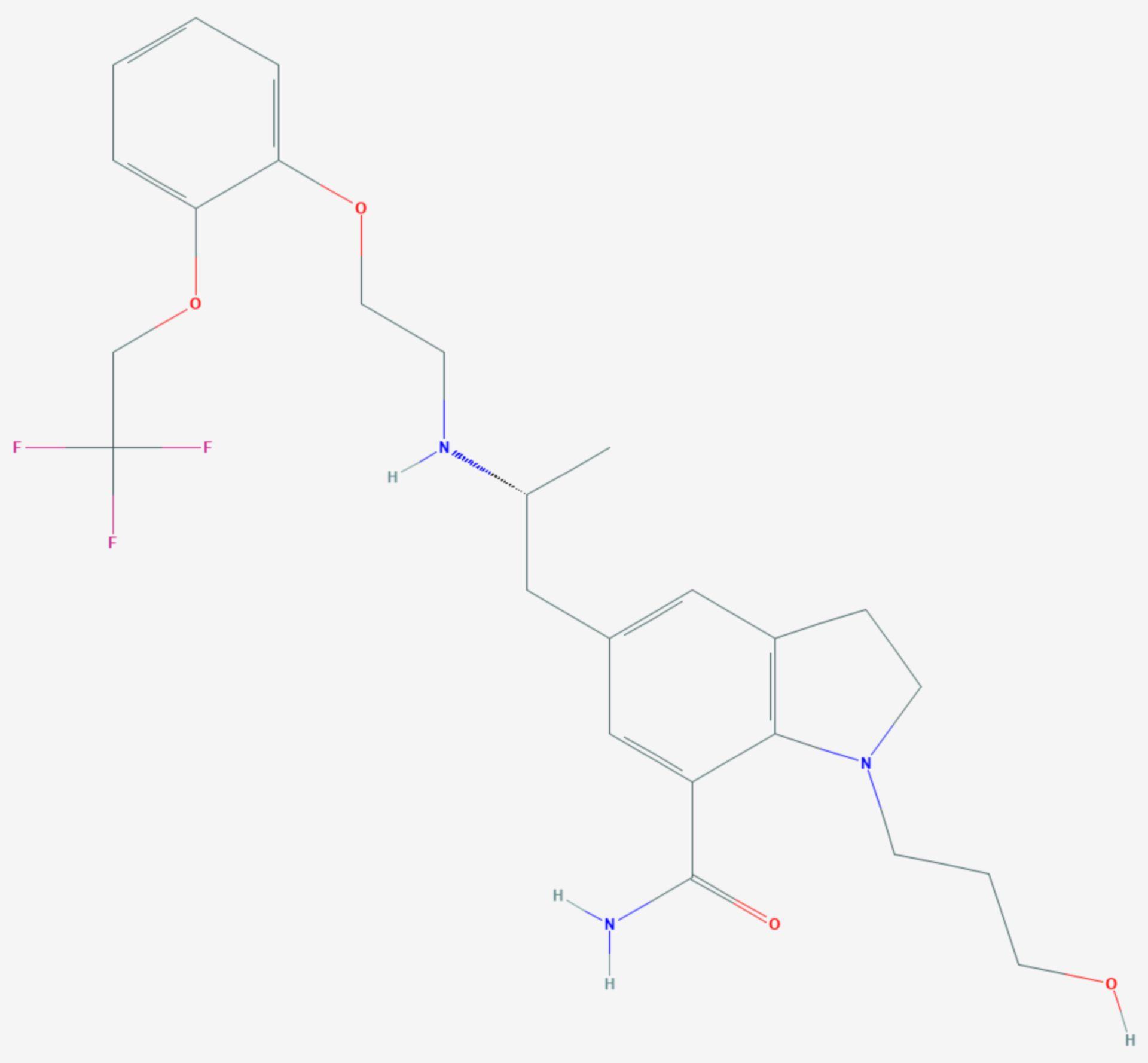 Silodosin (Strukturformel)