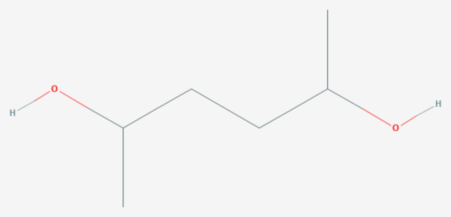 2,5-Hexandiol (Strukturformel)