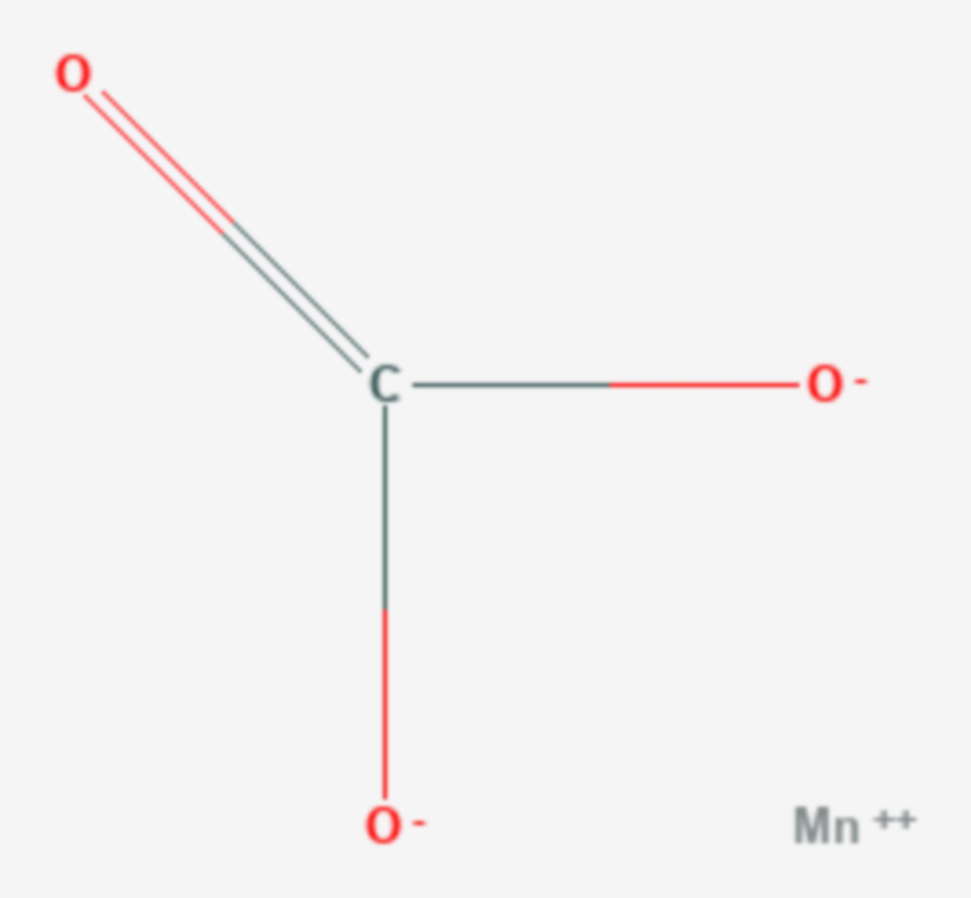 Mangan(II)-carbonat (Strukturformel)