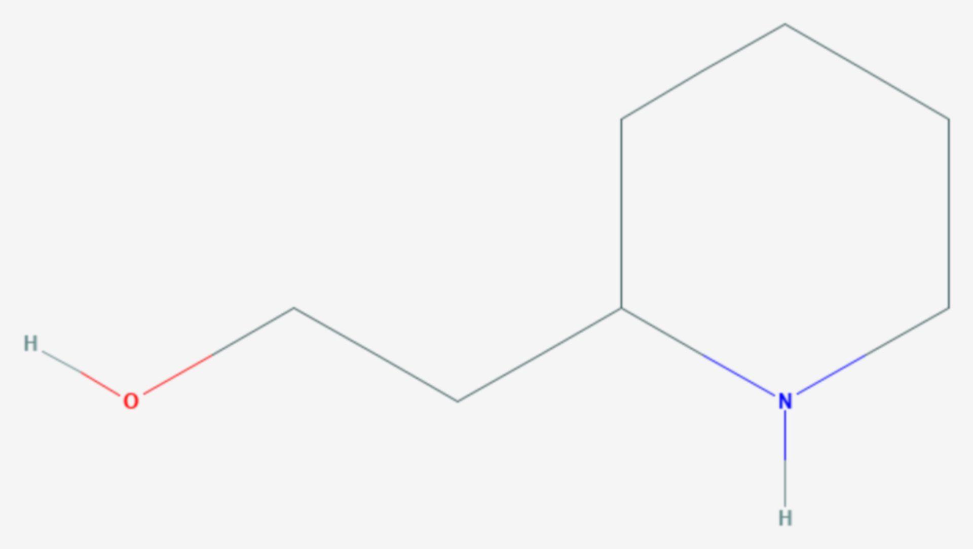 2-Piperidinethanol (Strukturformel)