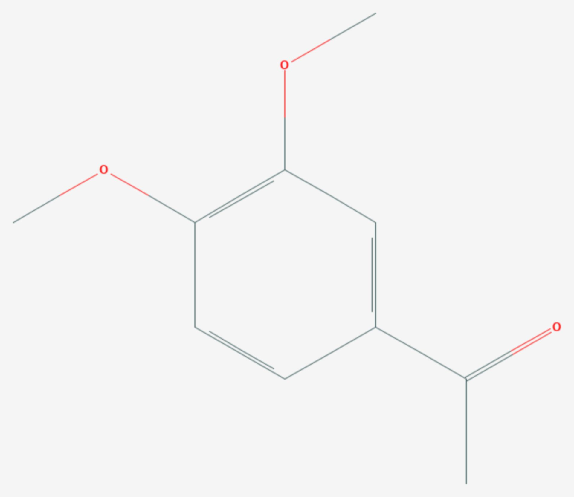 3,4-Dimethoxyacetophenon (Strukturformel)