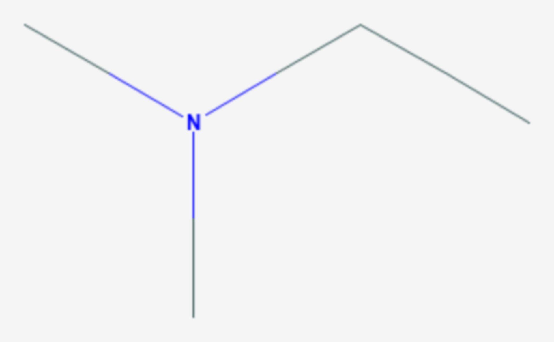 Ethyldimethylamin (Strukturformel)