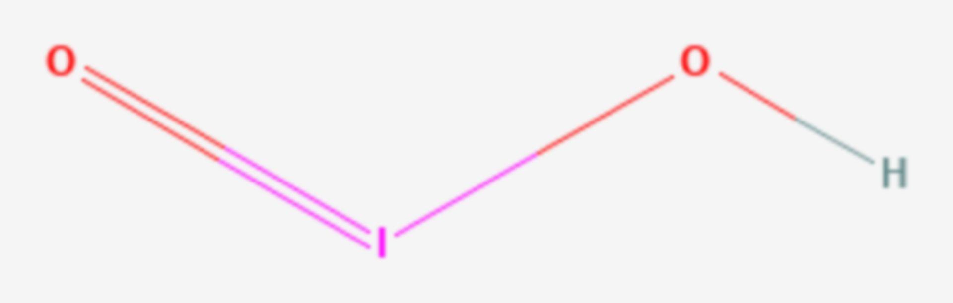 Iodige Säure (Strukturformel)